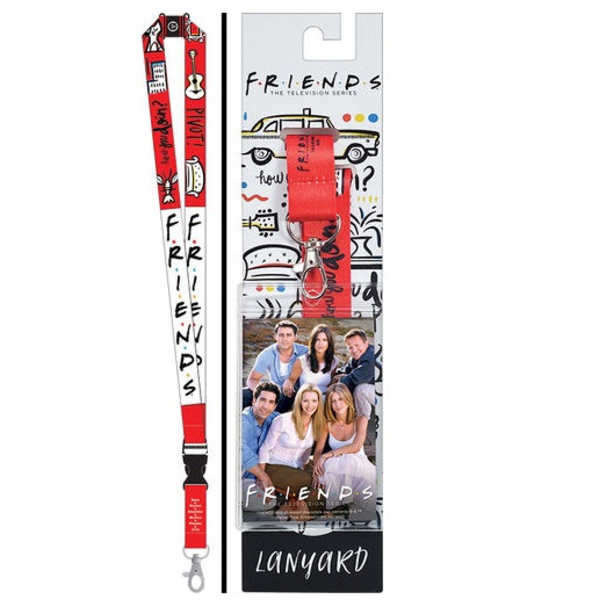 Friends TV Show Reversible Lanyard with Breakaway Clip and ID Holder