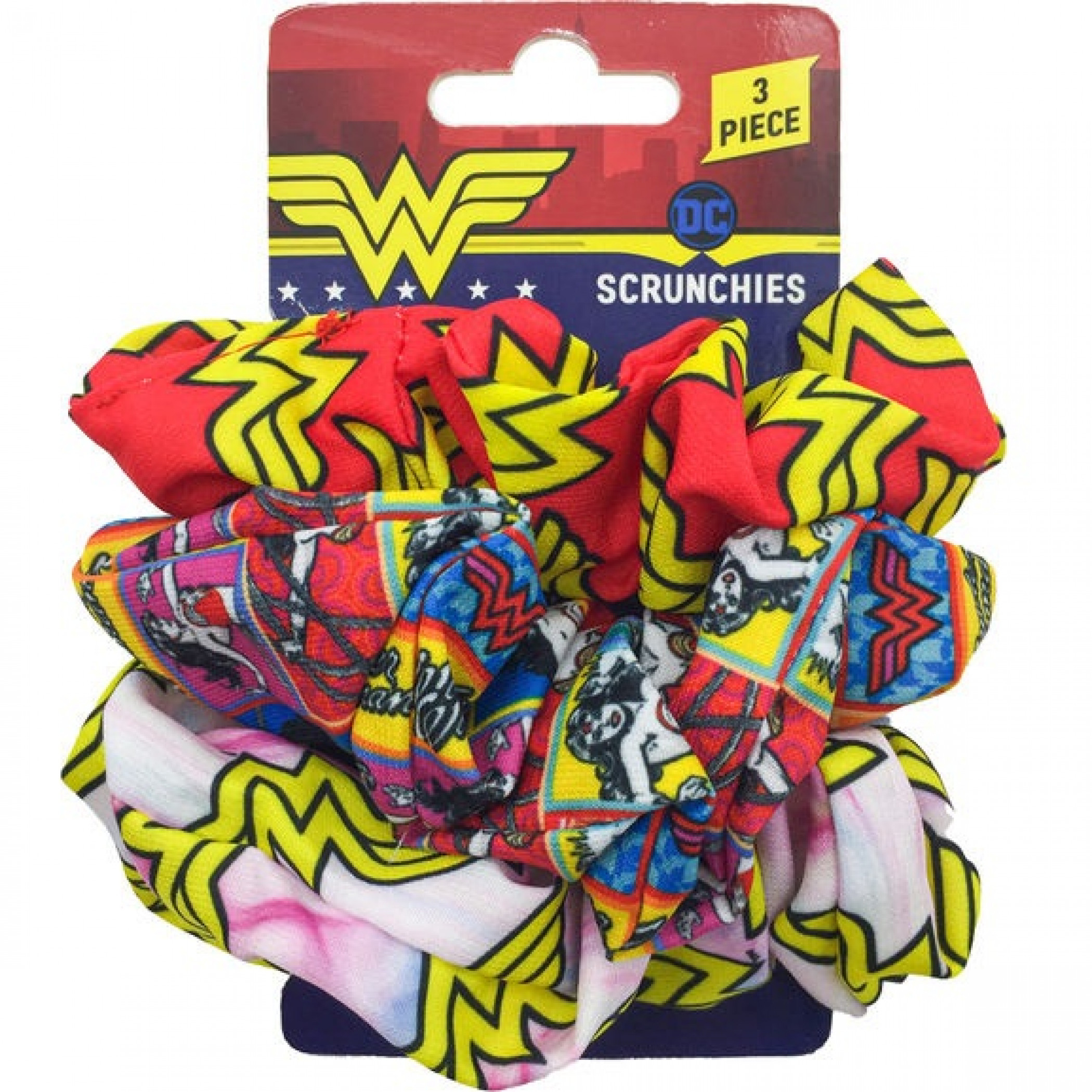 Wonder Woman 3-Piece Scrunchies Set