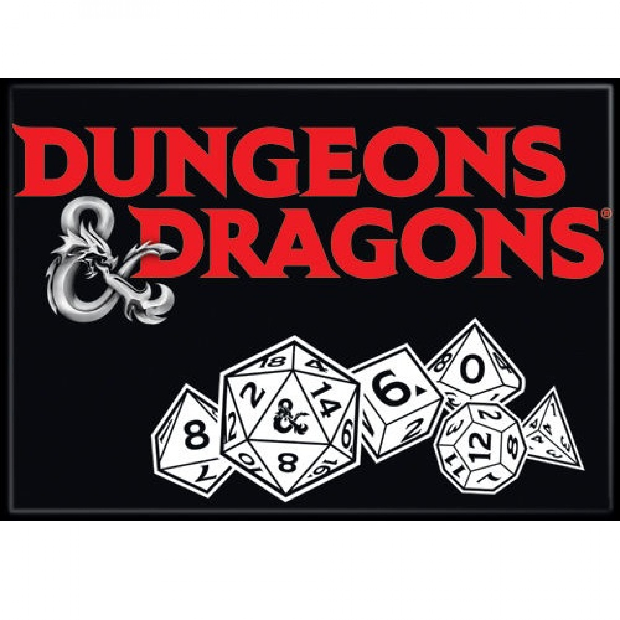 Dungeons & Dragons Dice Magnet