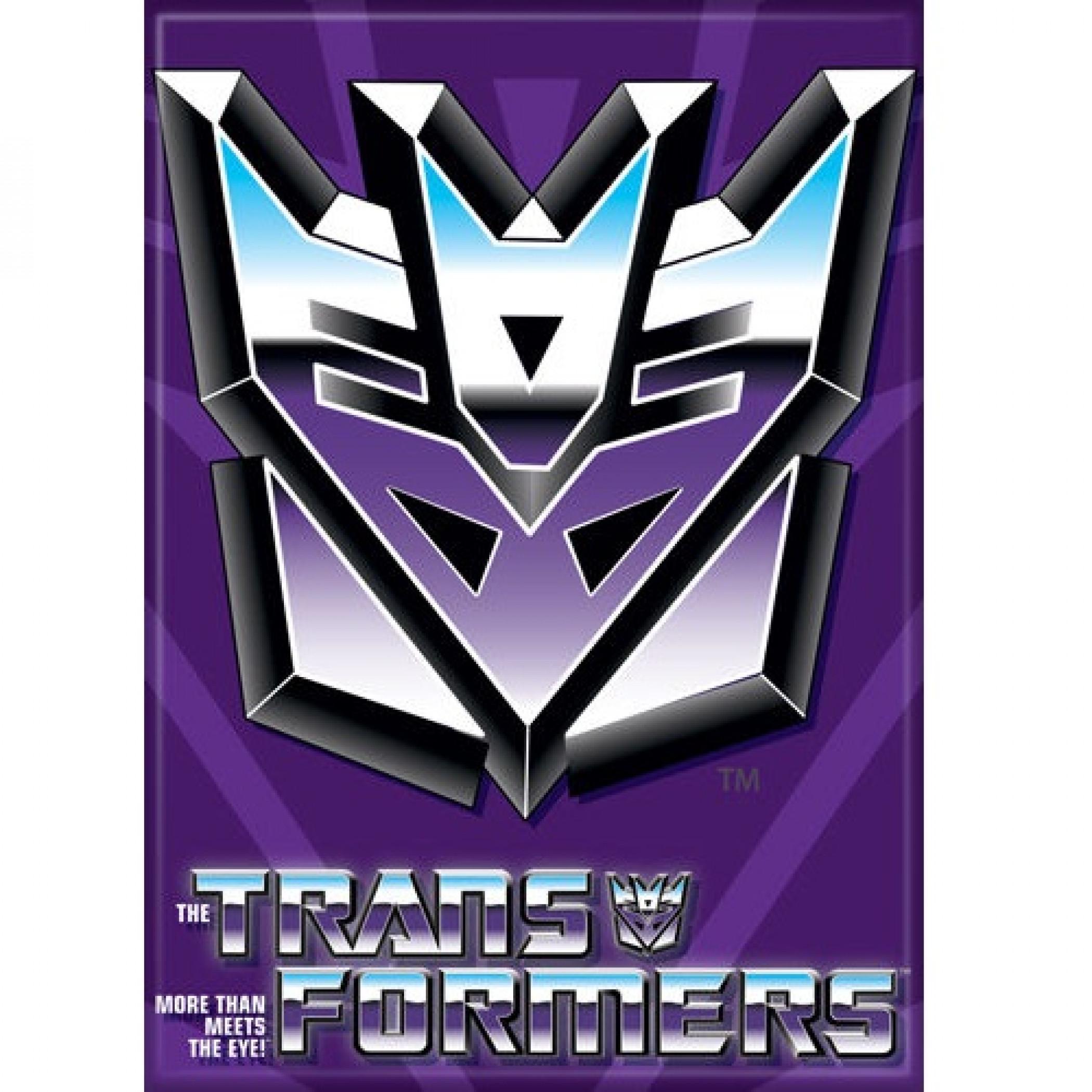 The Transformers Decepticons Logo Magnet