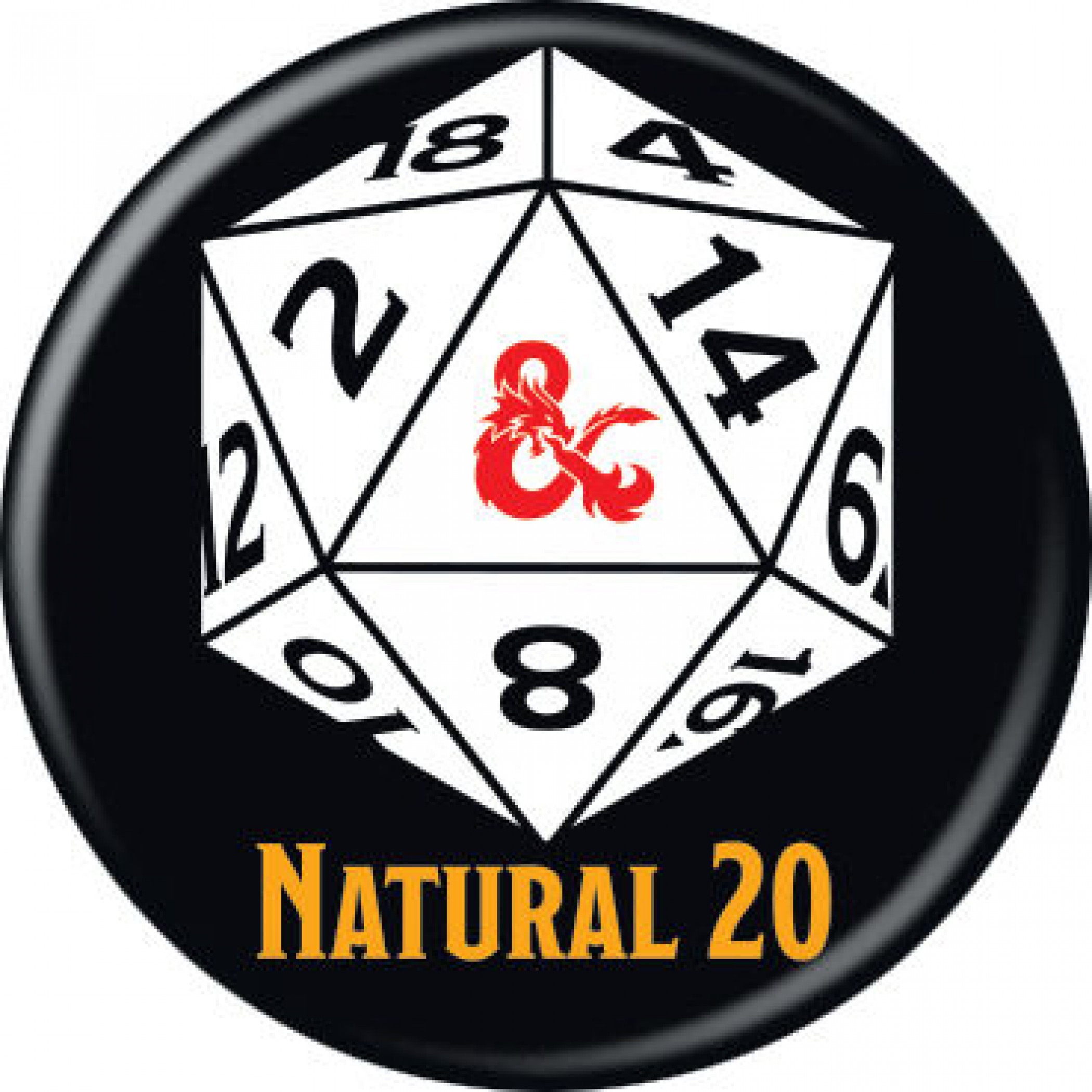 Dungeons & Dragons Natural 20 Button