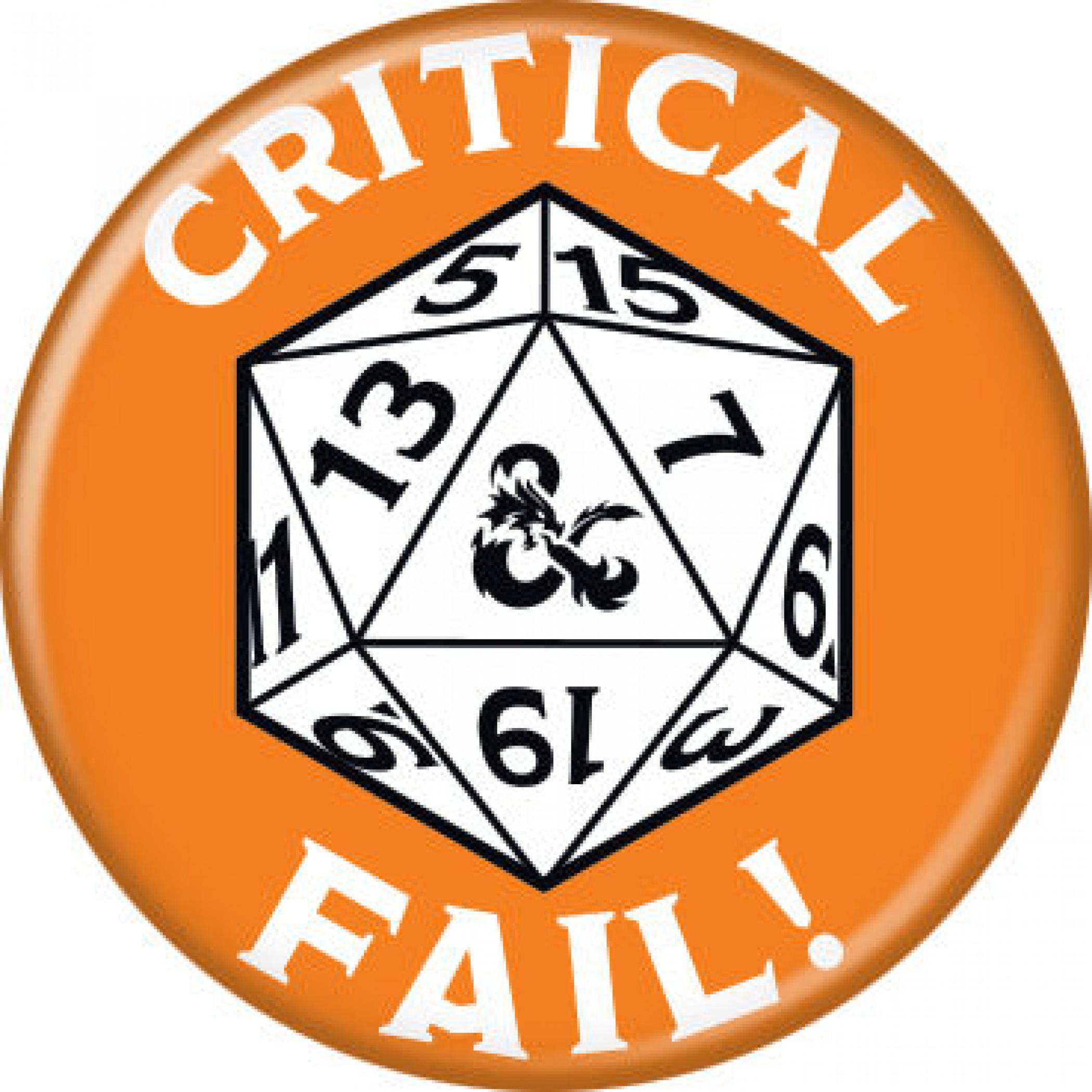 Dungeons & Dragons Critical Fail Button