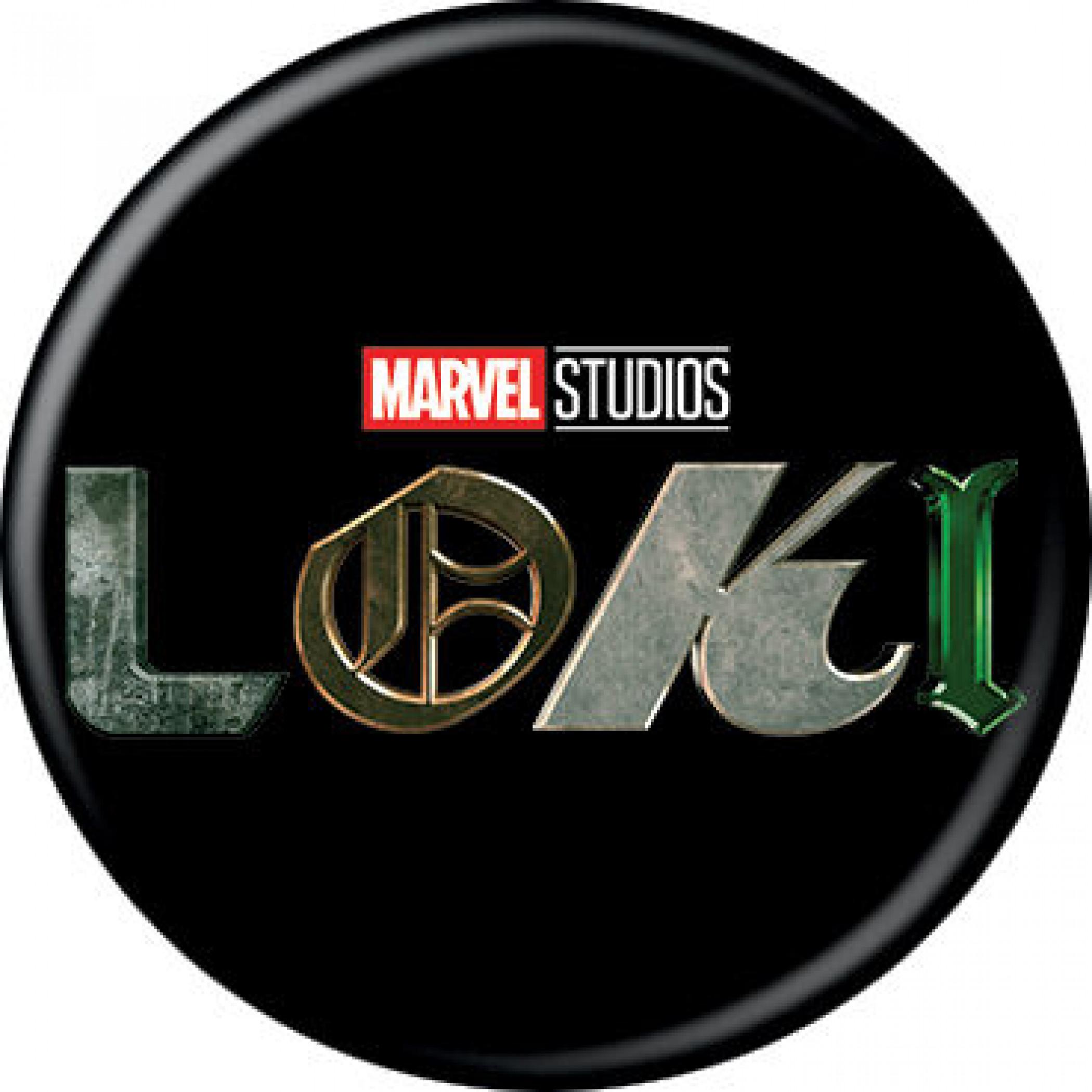 Marvel Studios Loki Series Title Card Logo Button