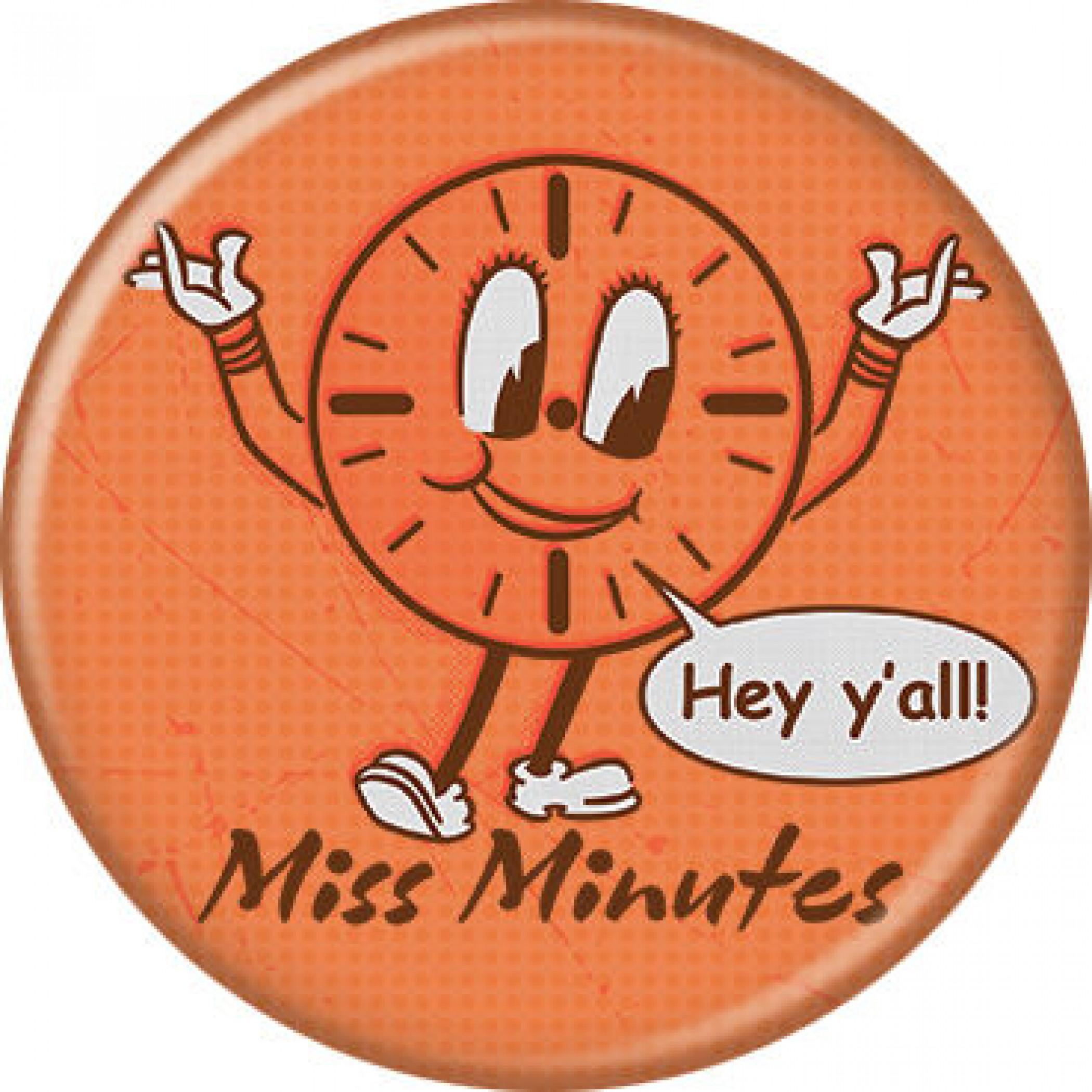 Marvel Studios Loki Series Miss Minutes Character Button
