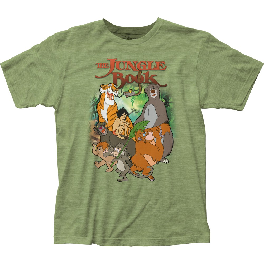 The Jungle Book Cover Men's Green T-Shirt