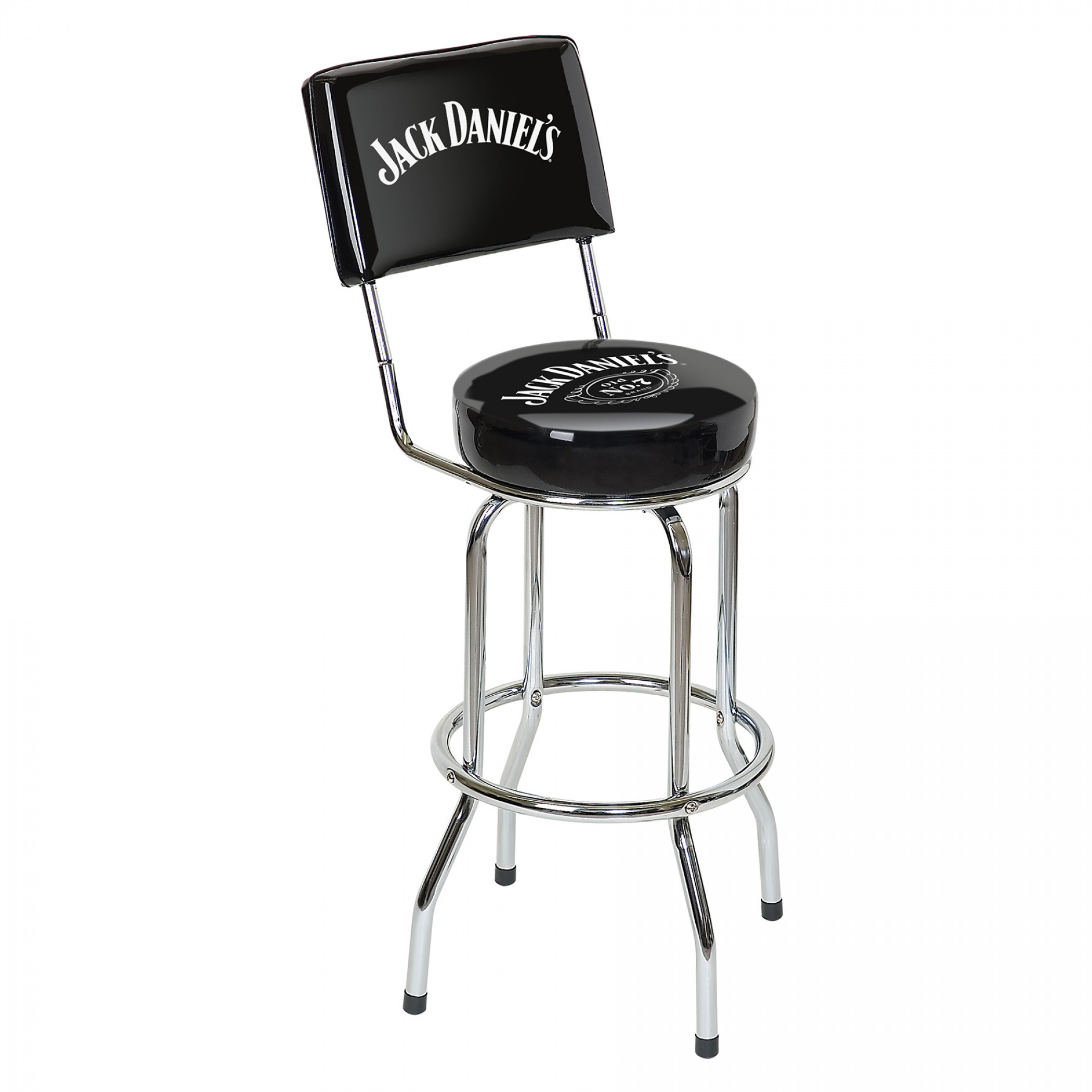 Jack Daniels Old No. 7 Brand Bar Stools with Backrest
