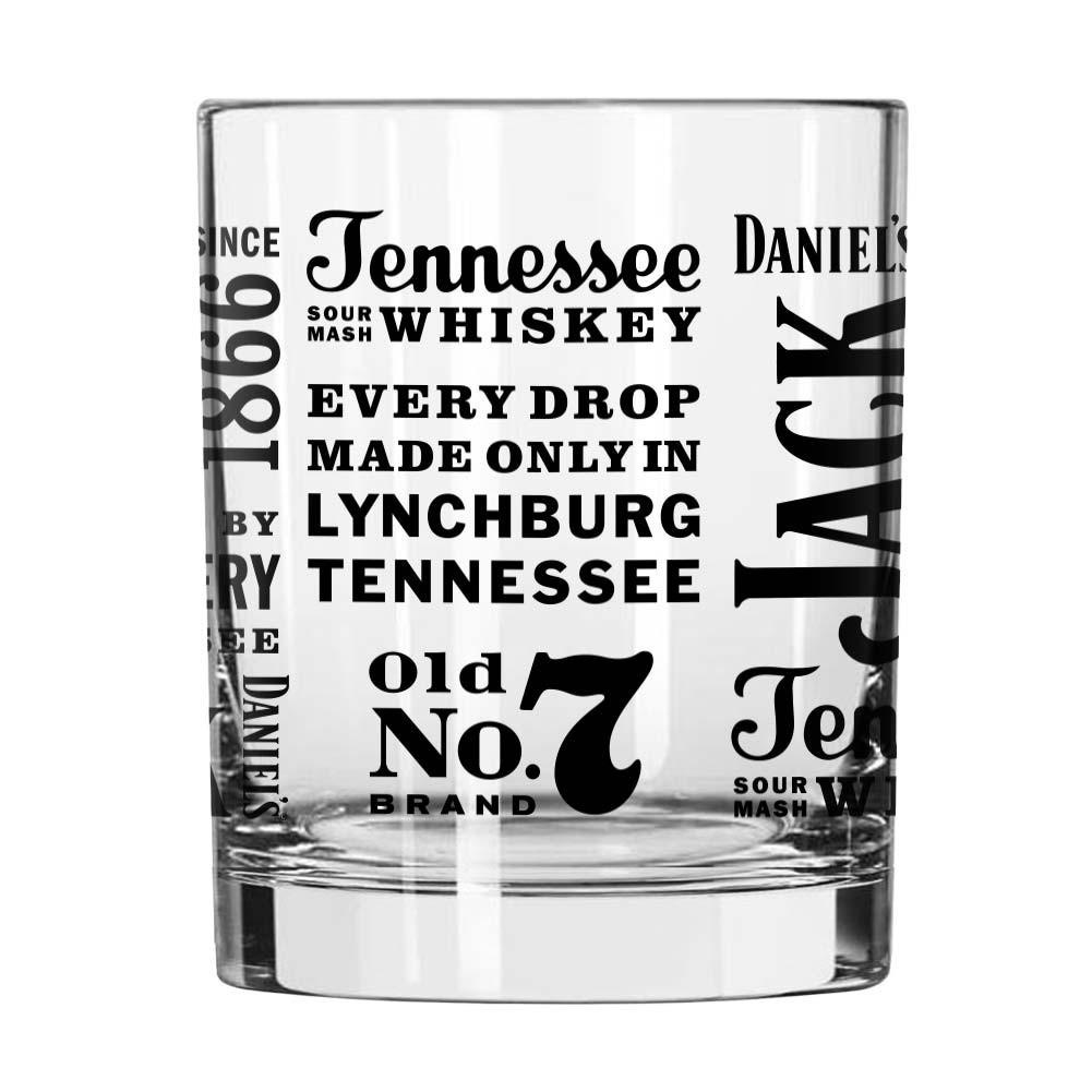 Jack Daniels Clear Tennessee Whiskey Spirit Rocks Glass