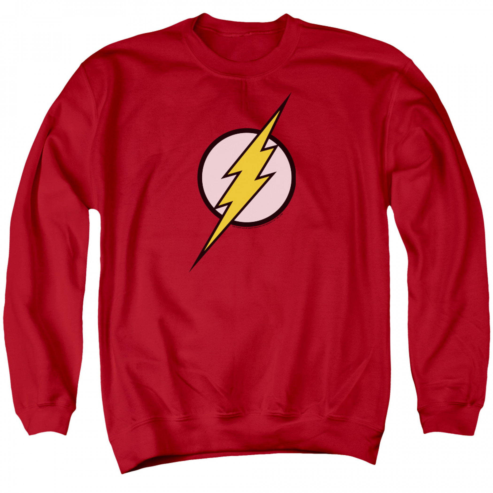 Flash Logo Crewneck Men's Red Sweatshirt