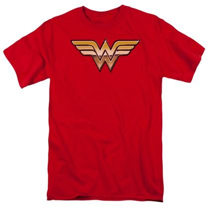 Wonder Woman 3D Logo Men's Tshirt