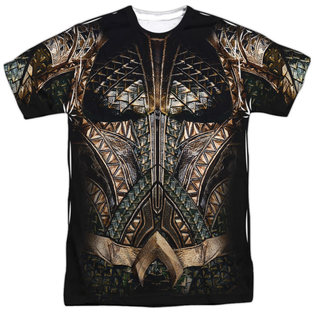 Aquaman Justice League Front and Back Print Costume T-Shirt