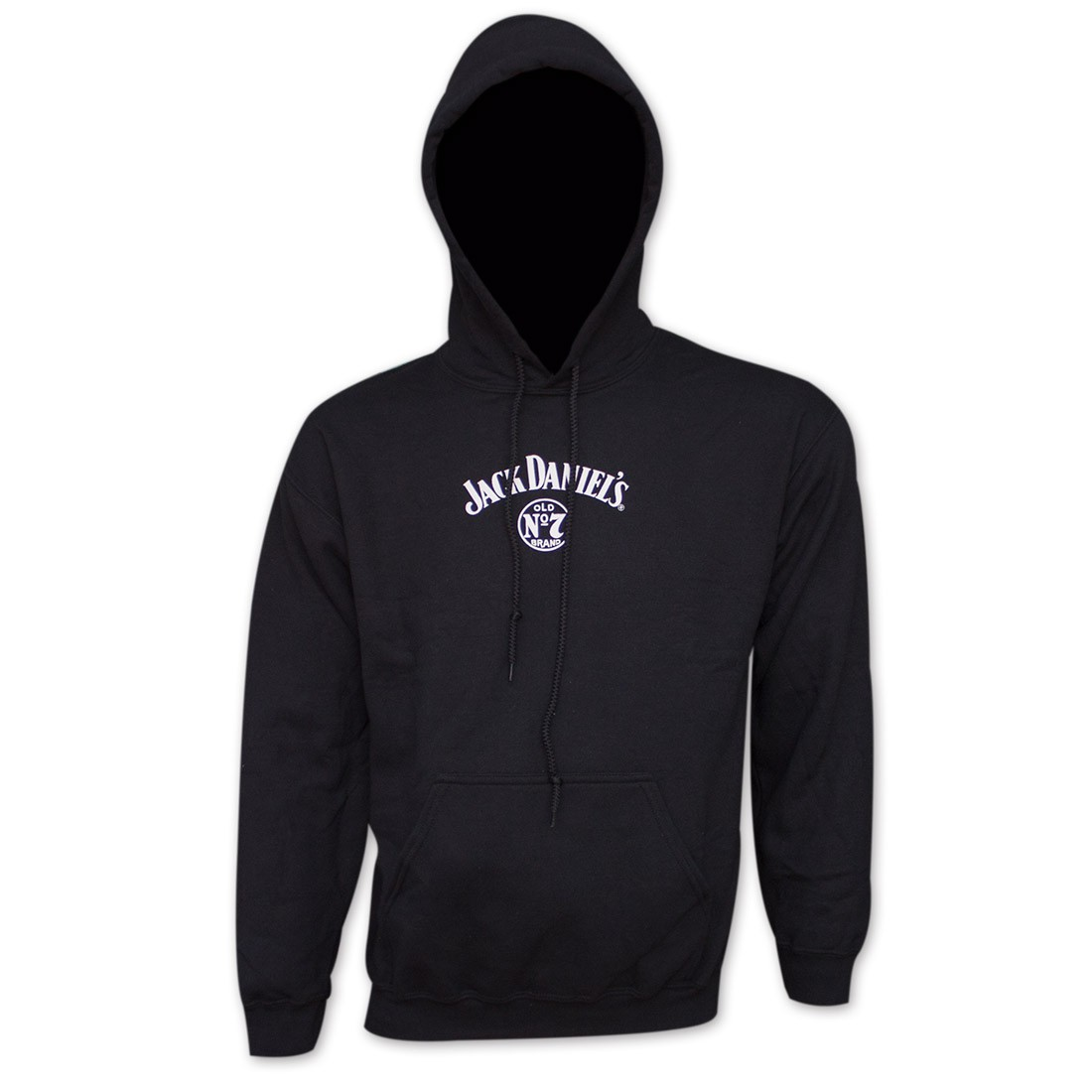 Jack Daniel's Classic Label Black Graphic Hoodie Sweatshirt