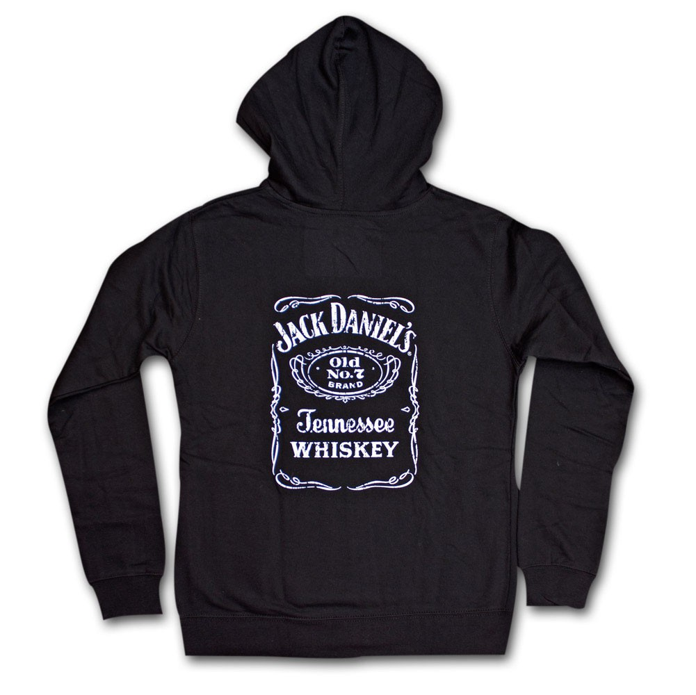 Jack Daniel's Classic Label Juniors Black Hoodie Sweatshirt