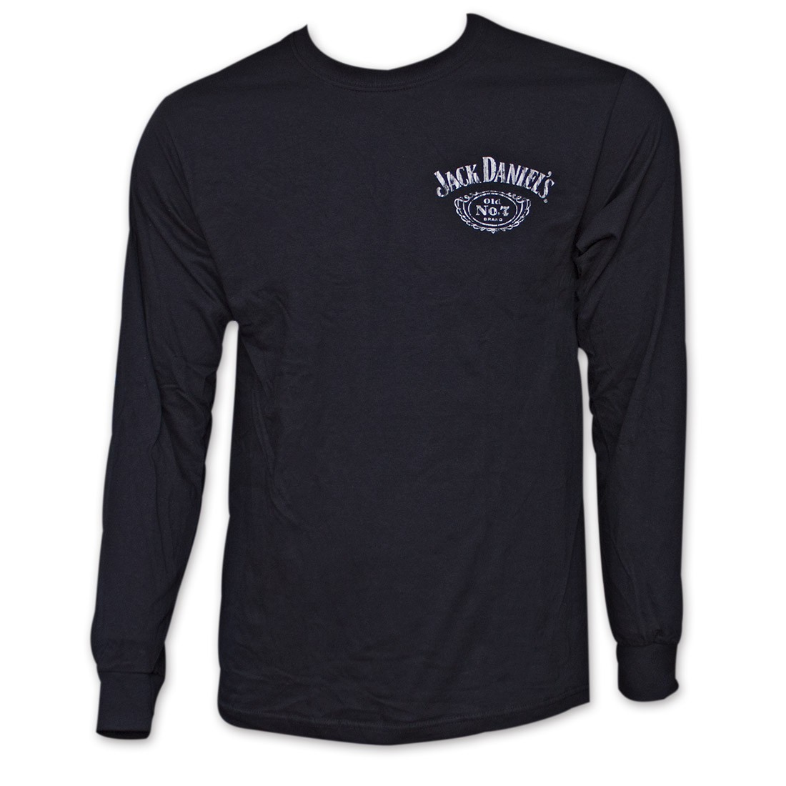 Jack Daniel's Classic Label Graphic Men's Black Long Sleeve Shirt