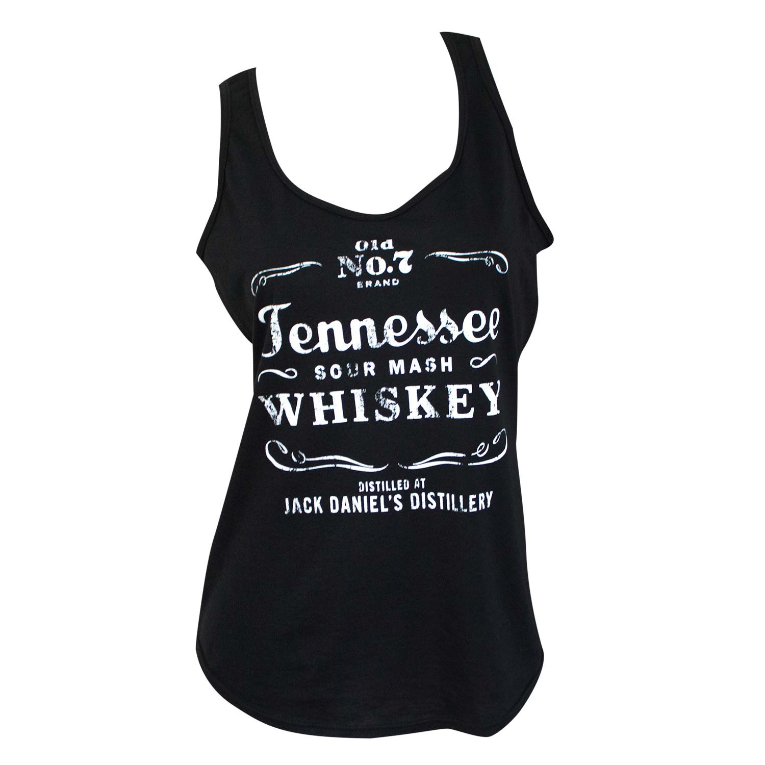 Jack Daniels Tennessee Whiskey Black Ladies Tank Top