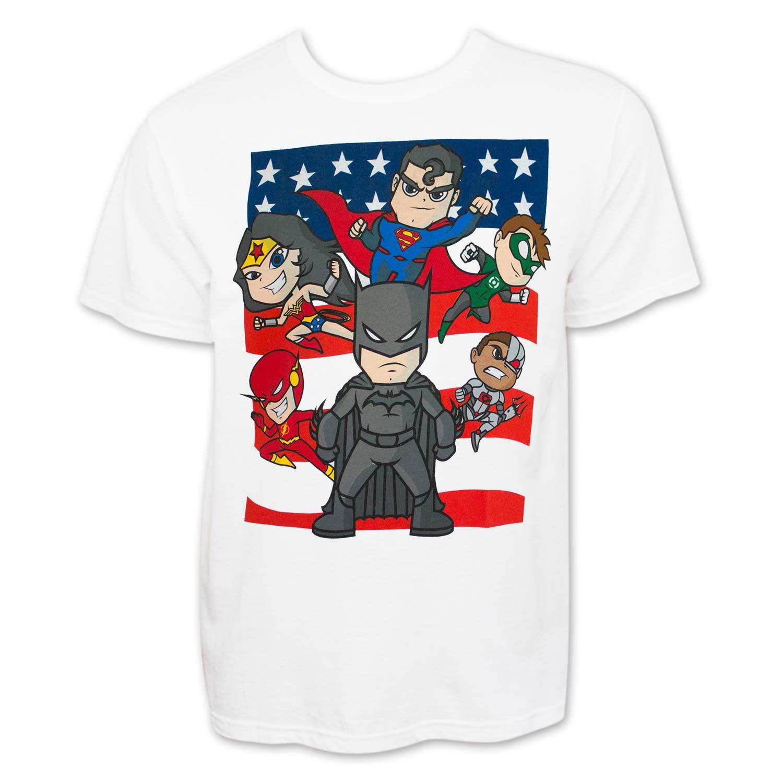 Justice League Men S White Cartoon T Shirt