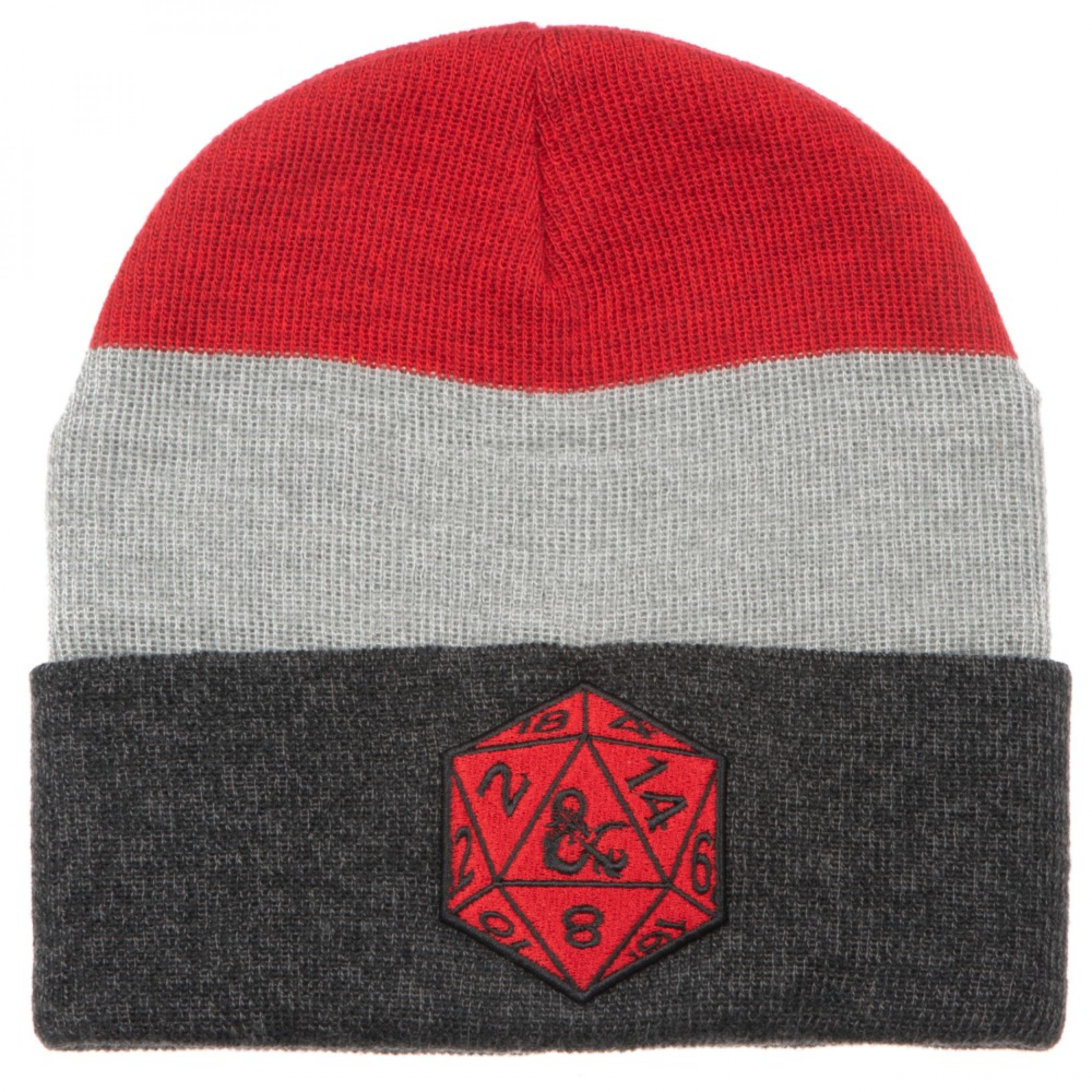 Dungeons and Dragons Dice Symbol Marble Stripe Beanie