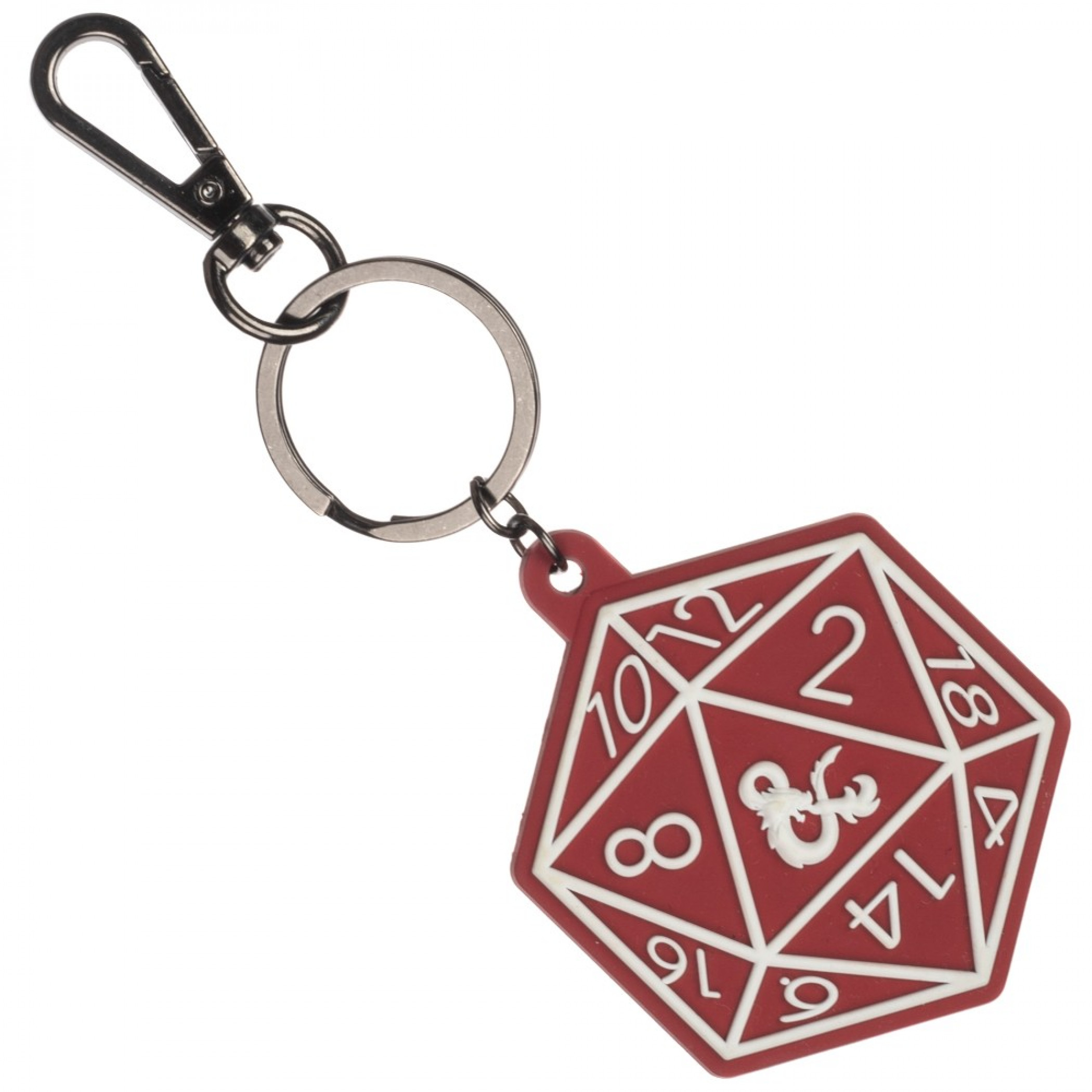 Dungeons and Dragons Red Dice Keychain