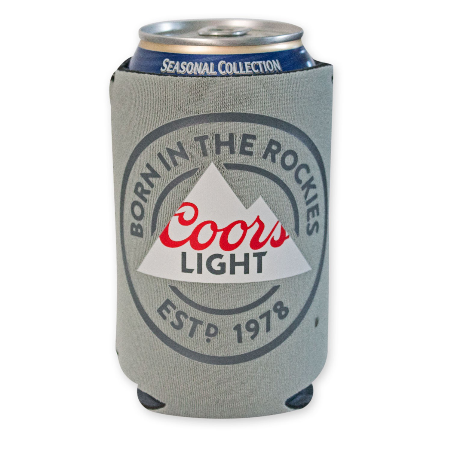 Coors Light Grey Can Cooler