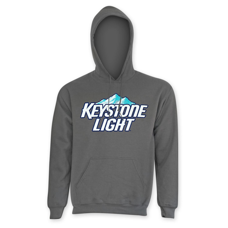 Keystone Lite Men's Classic Grey Hoodie