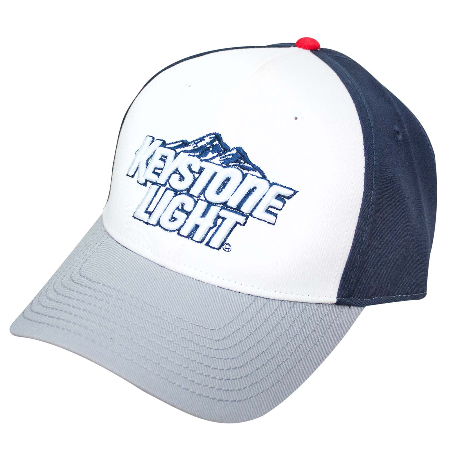 Keystone Light White And Blue Adjustable Hat