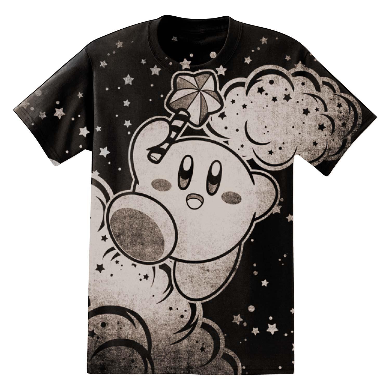 Nintendo Kirby Clouds Men's Black T-Shirt