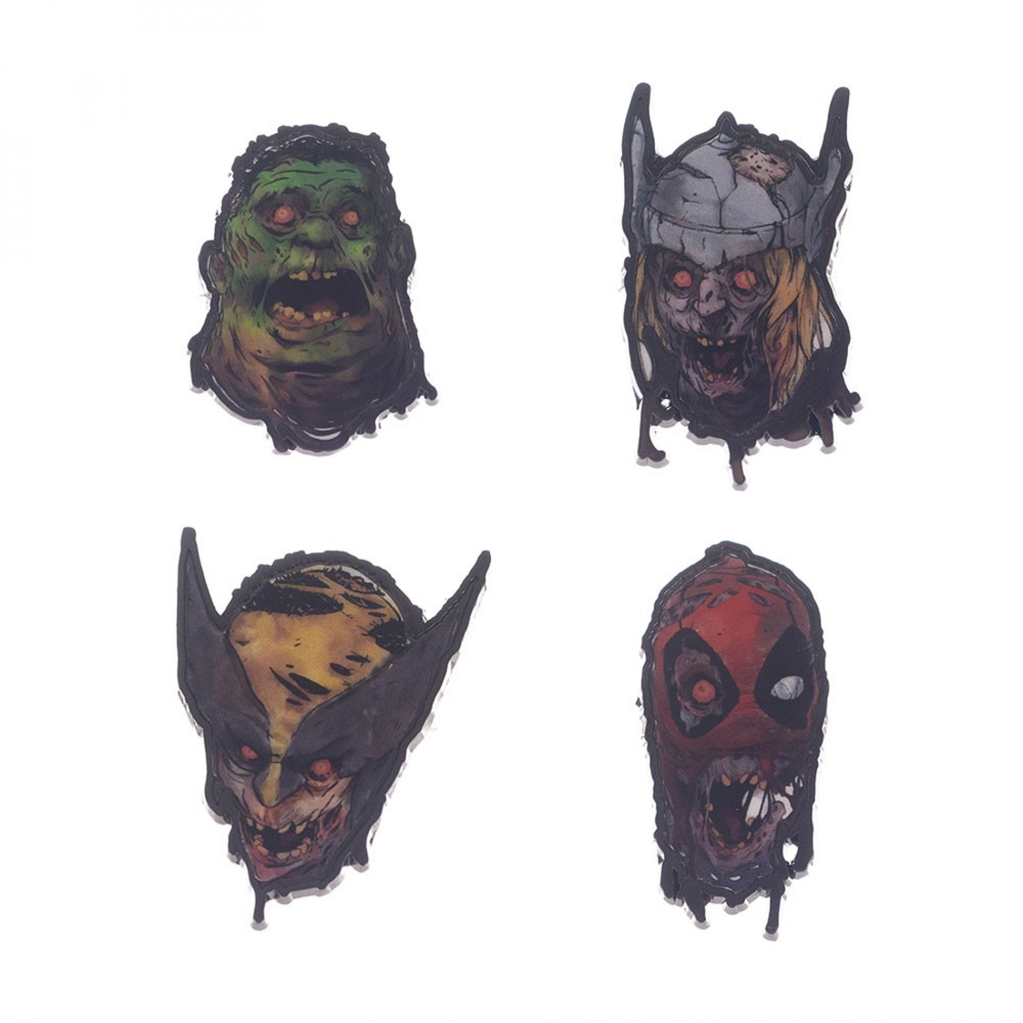 Marvel Zombies Comic Characters Lapel Pins 4-Piece Set