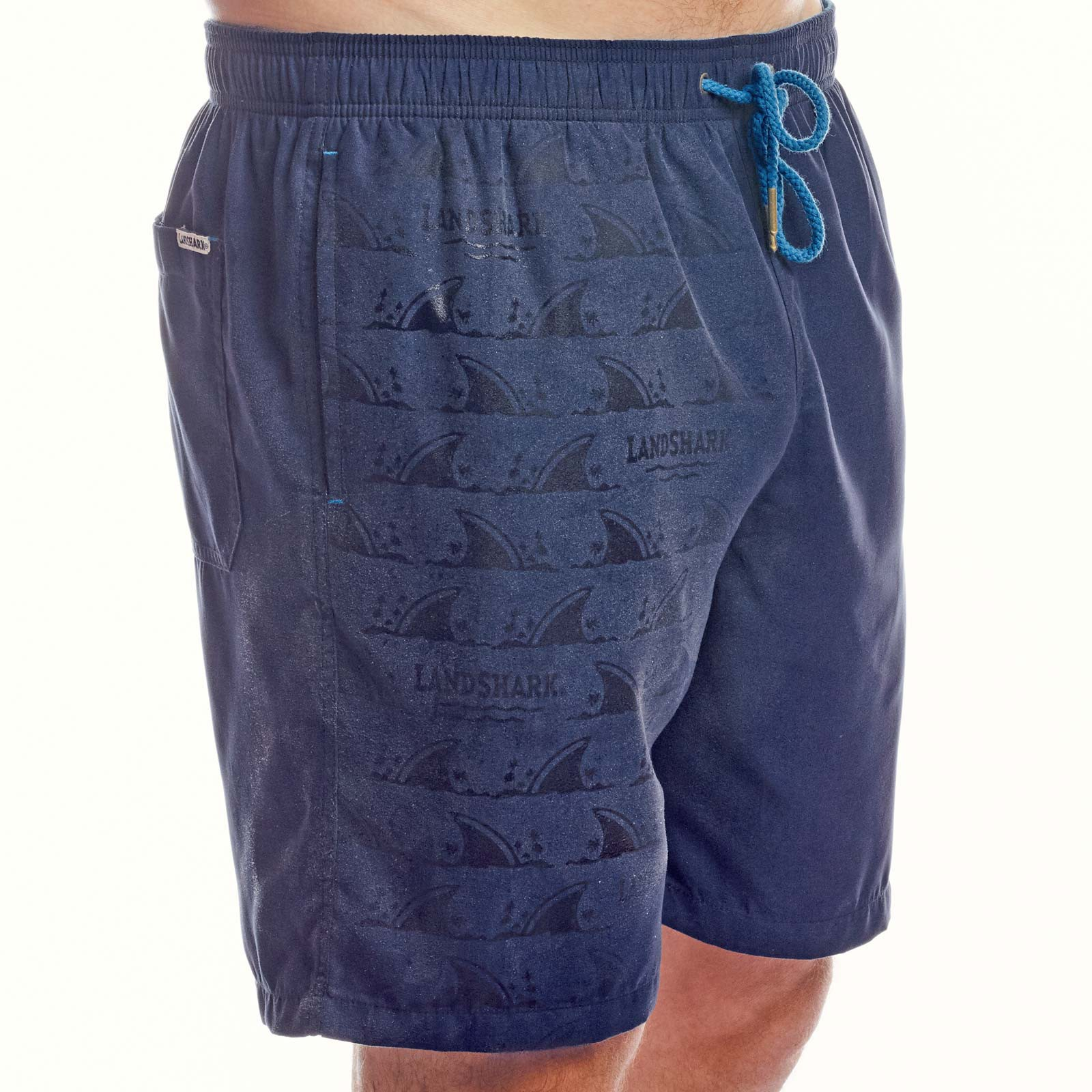 Landshark Ghost Print Color Changing Blue Men's Boardshorts