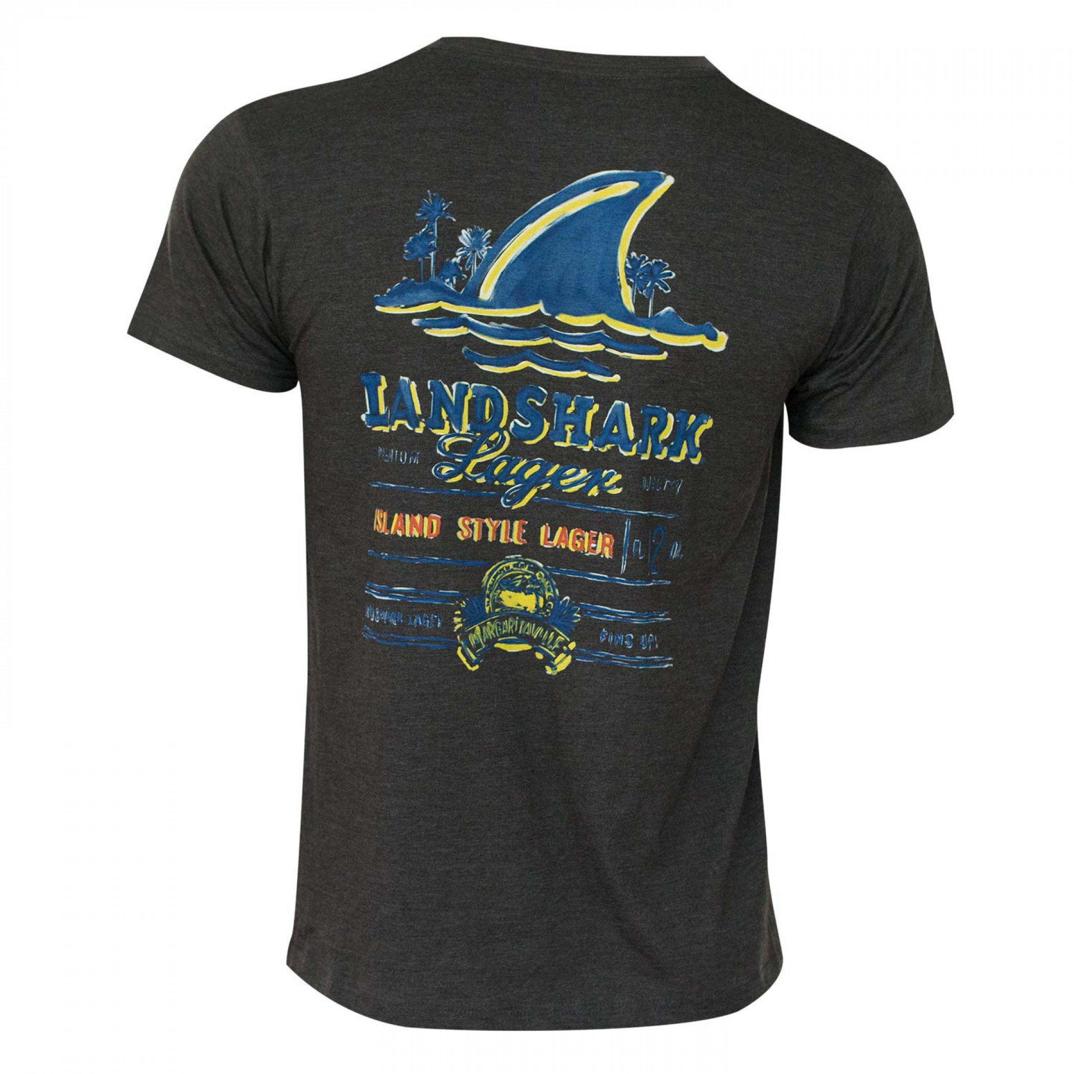 Landshark Painted Logo Black Tee Shirt