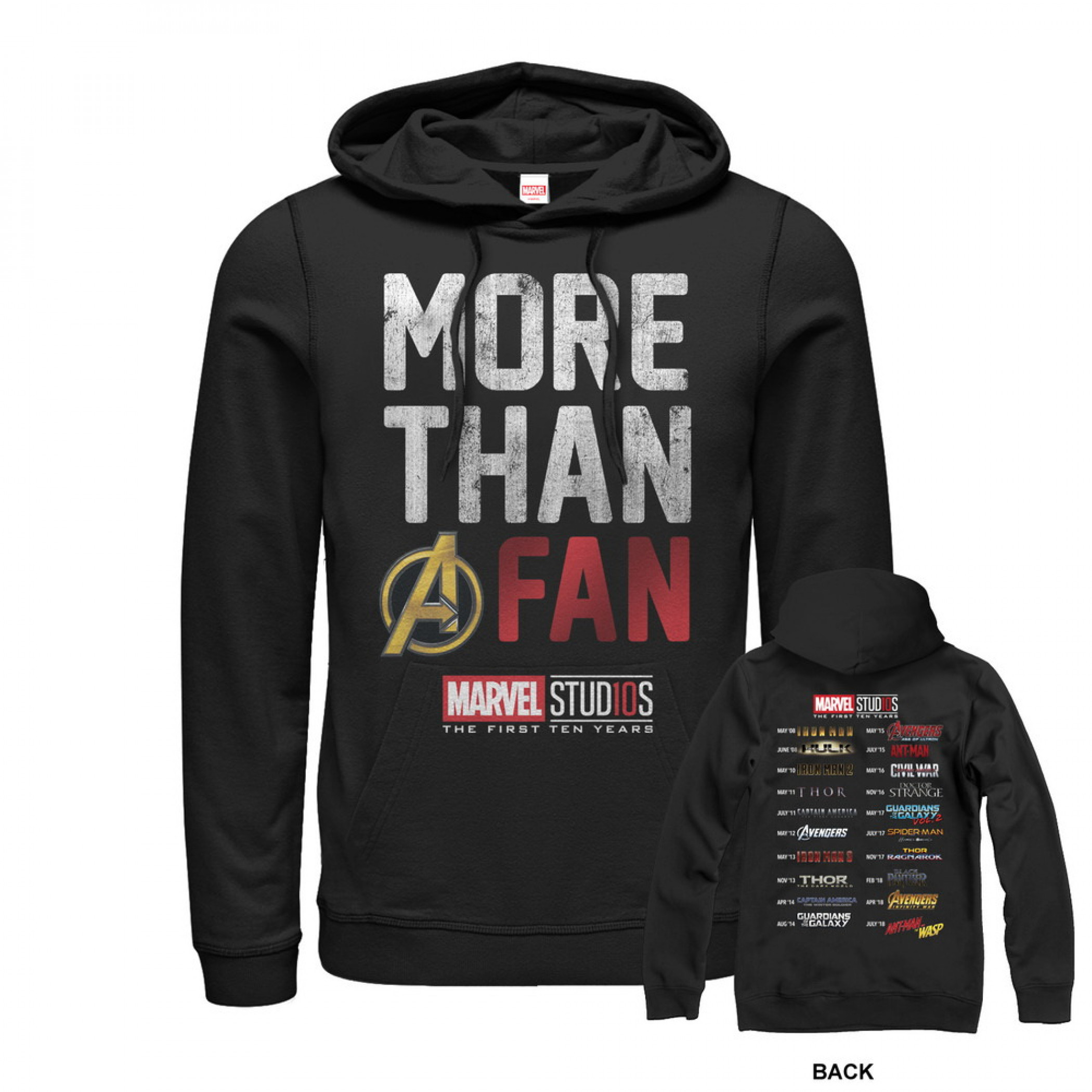 Avengers More Than A Fan 10 Years Hoodie