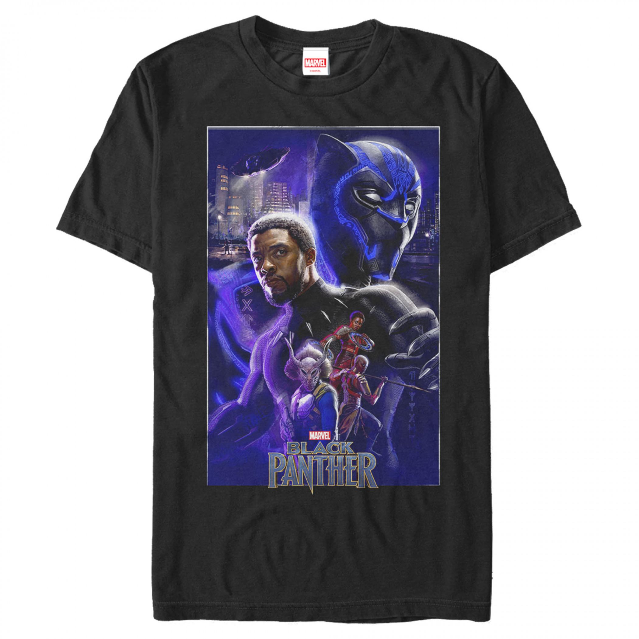 Black Panther Marvel Movie Poster T-Shirt
