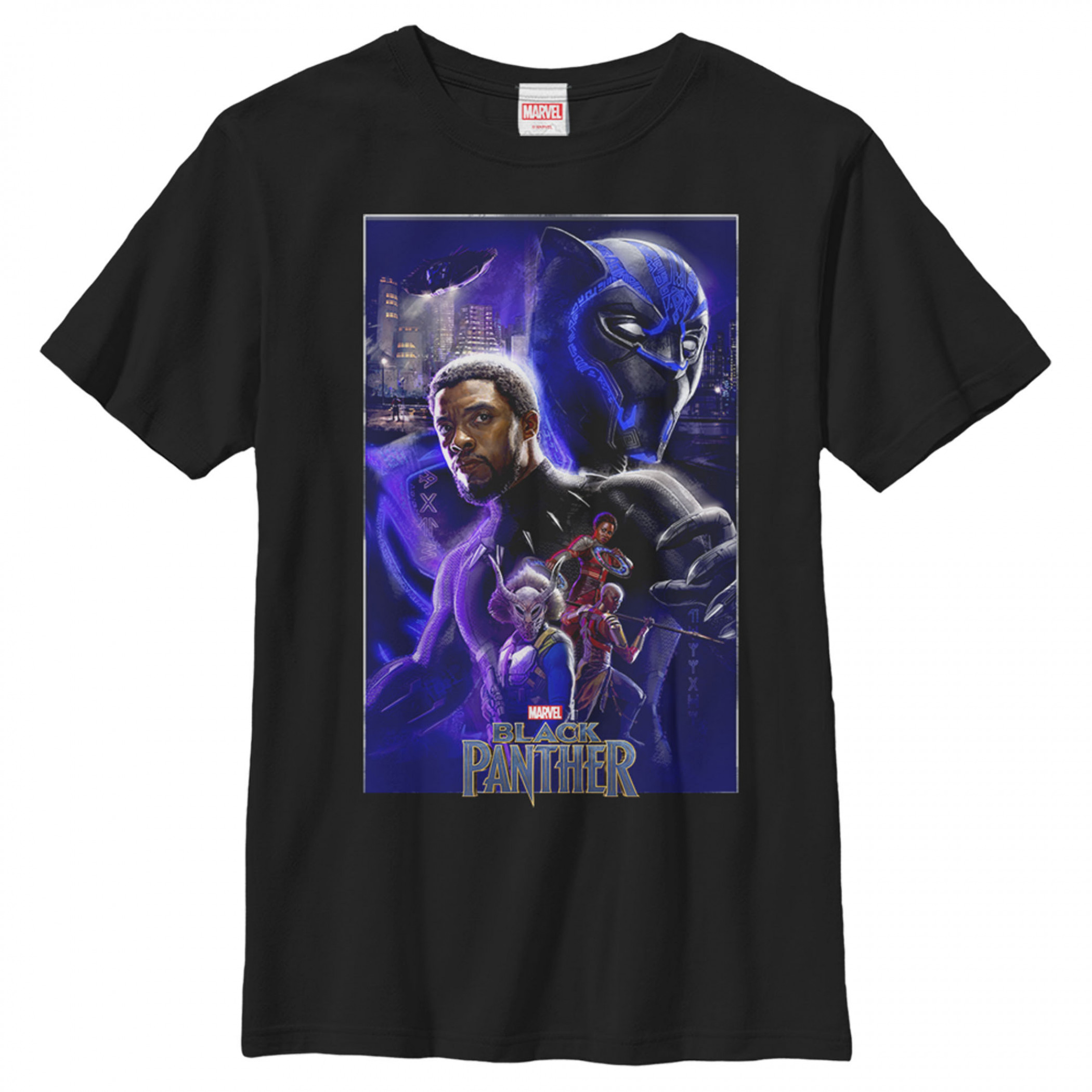Black Panther Marvel Movie Poster Boy's T-Shirt