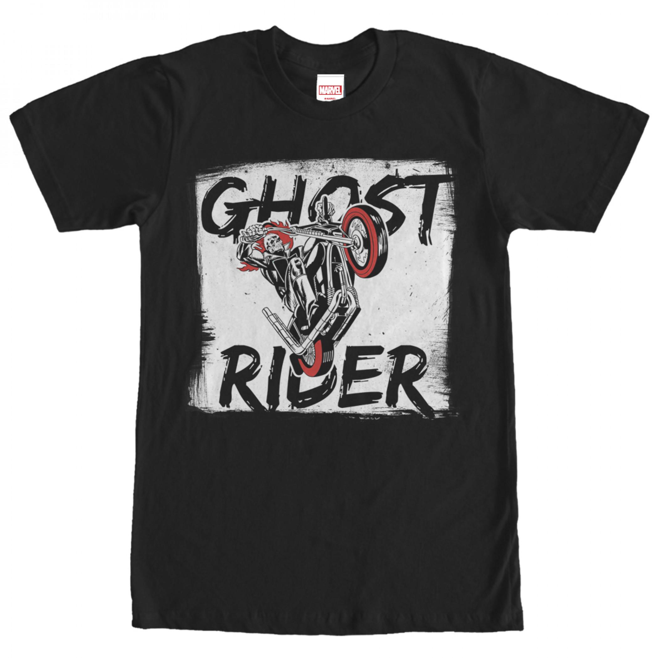 Ghost Rider Paint Print T-Shirt