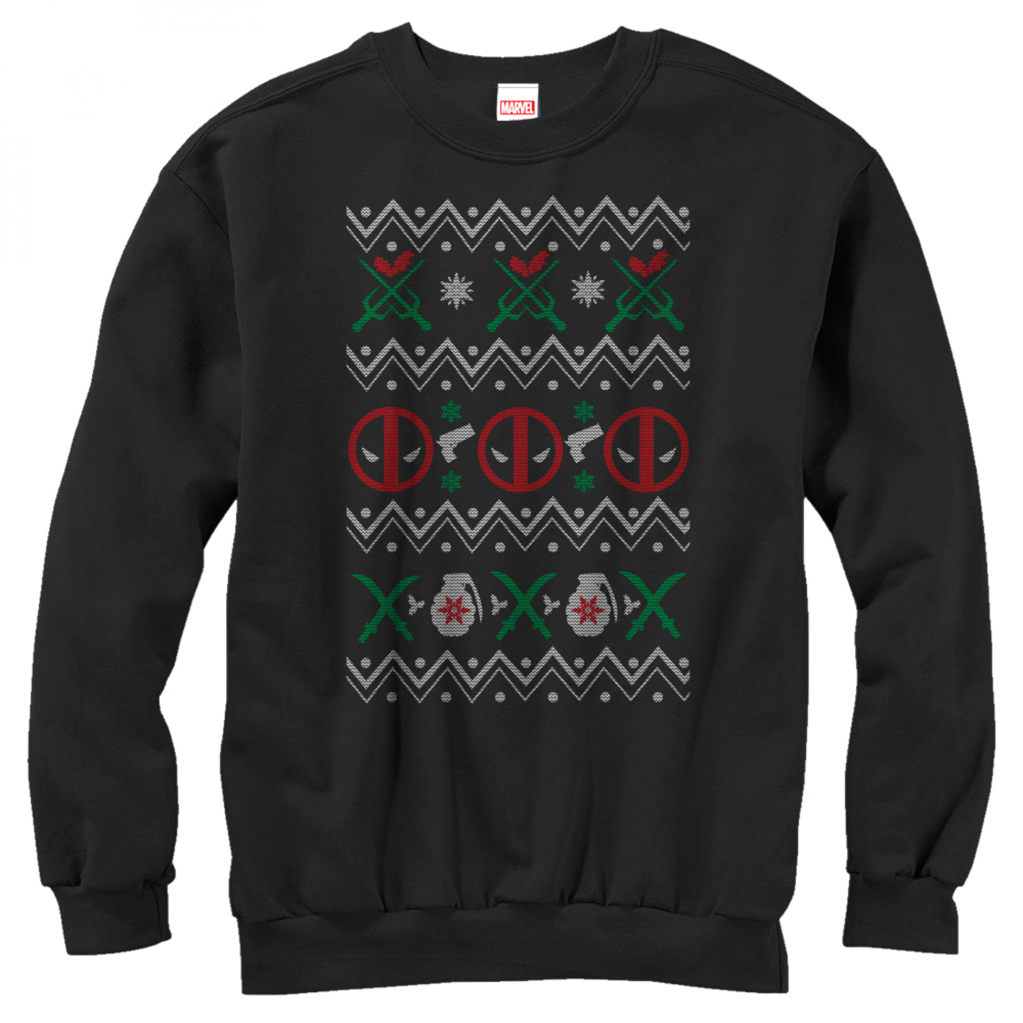 Deadpool Ugly Christmas Sweater Design Sweatshirt