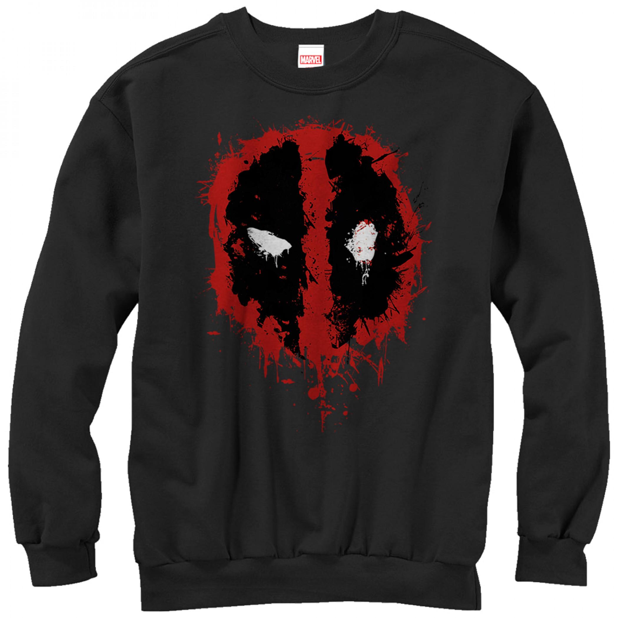 Deadpool Splatter Icon Sweatshirt