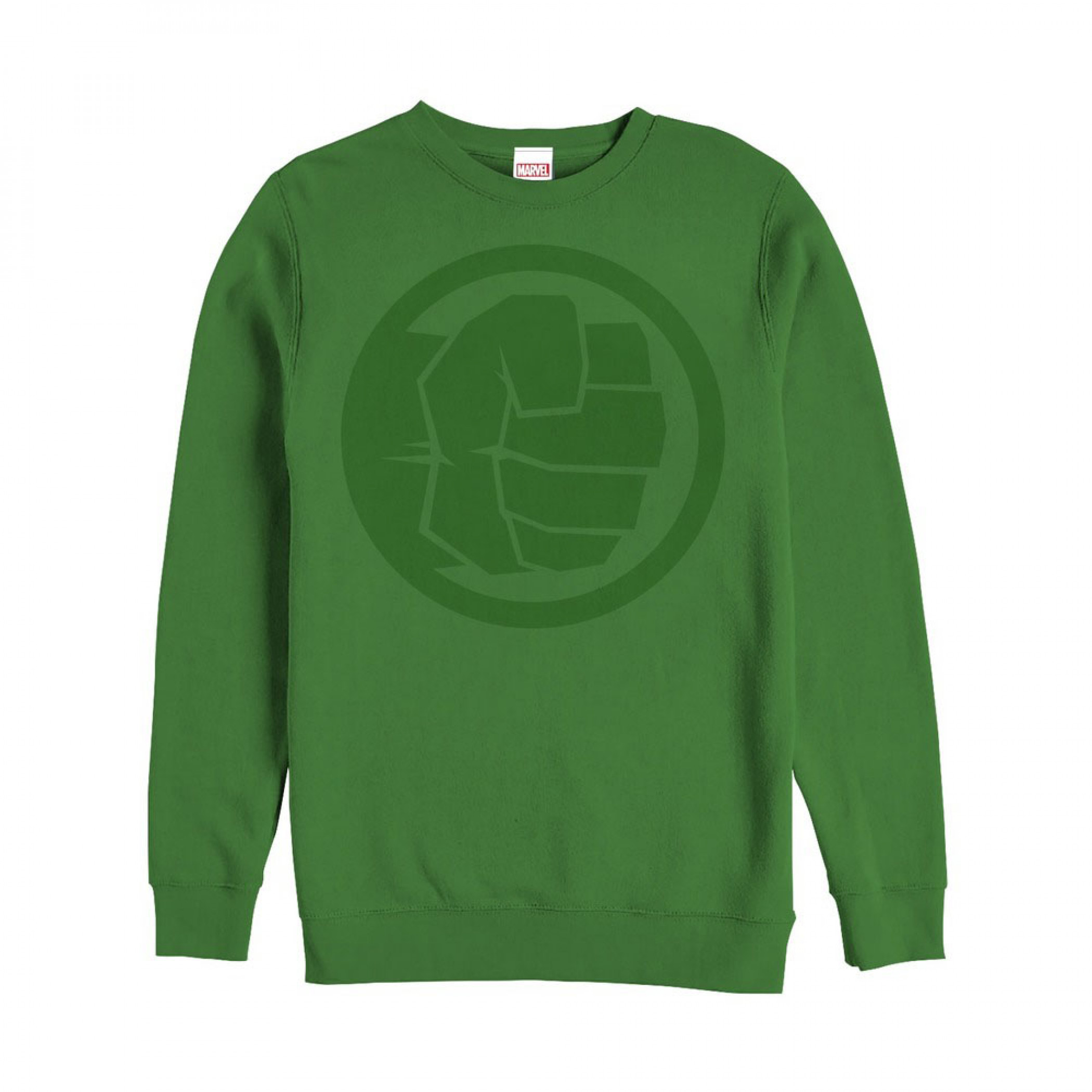 Hulk Fist Logo Green Sweatshirt