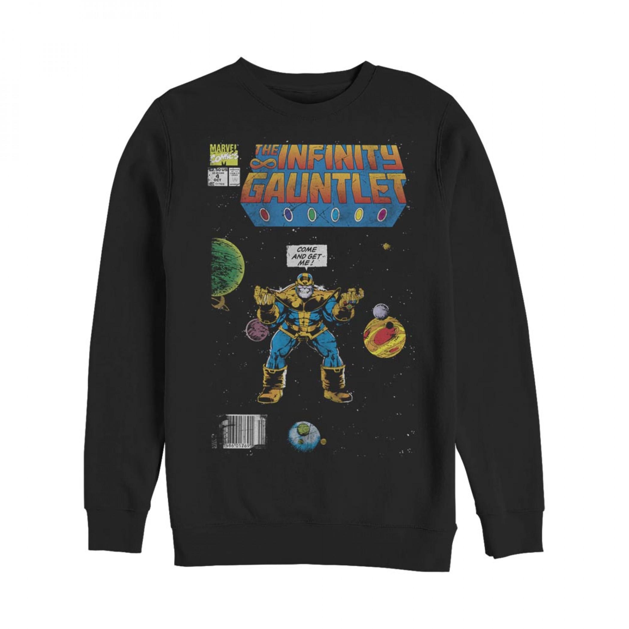 Marvel Thanos Infinity Gauntlet Comic Book Sweatshirt