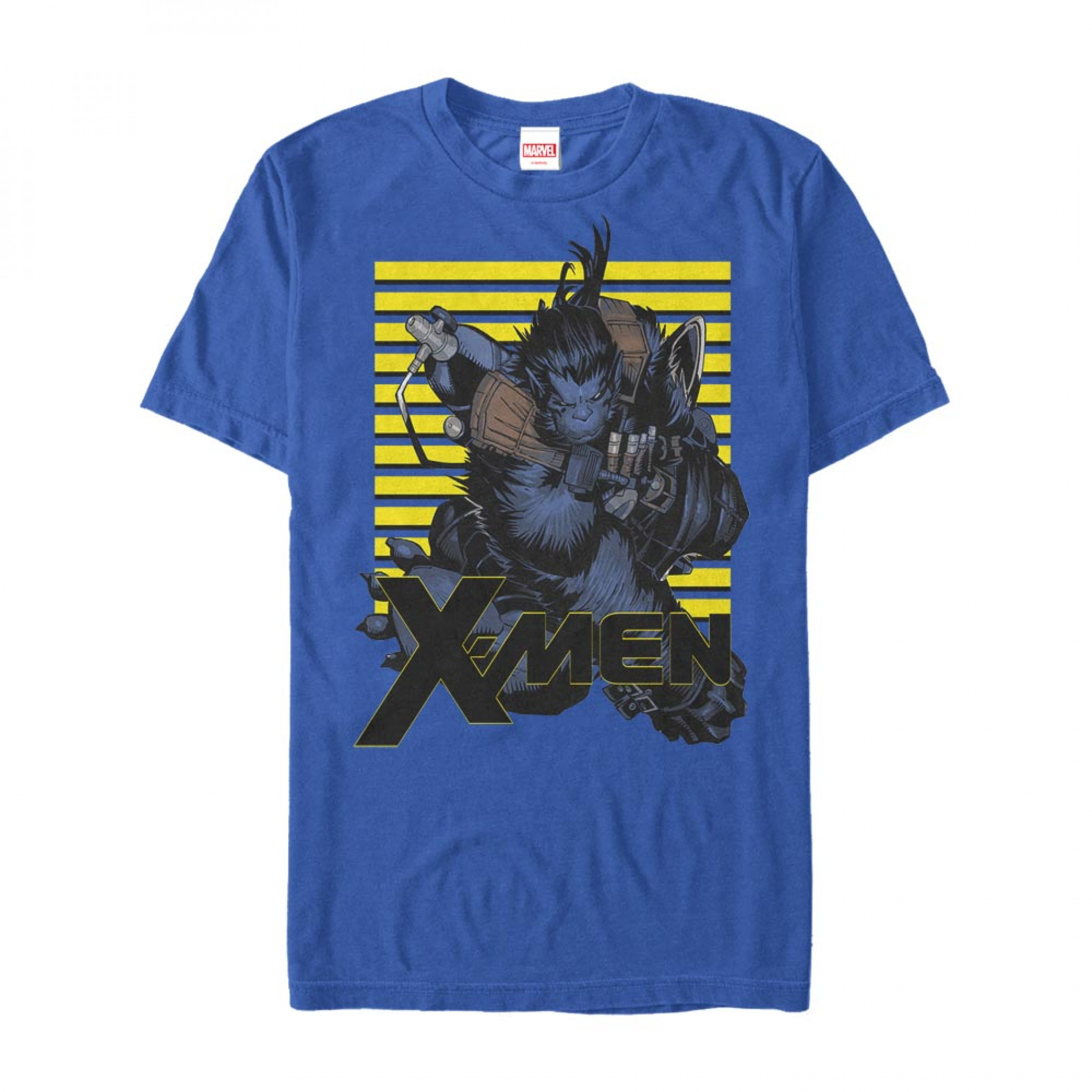 X-Men Beast Attacks Blue T-Shirt