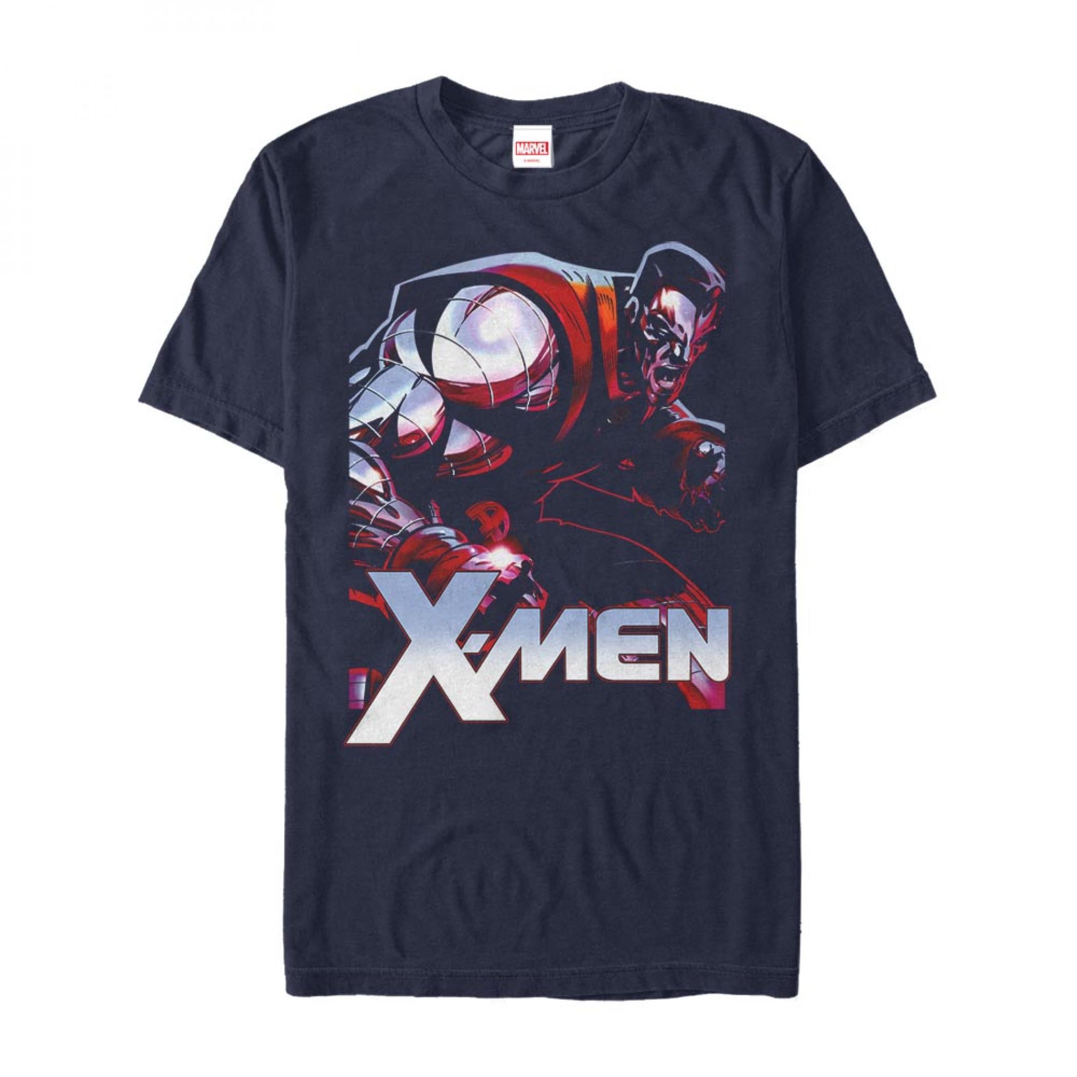 X-Men Colossus Steel Blue T-Shirt