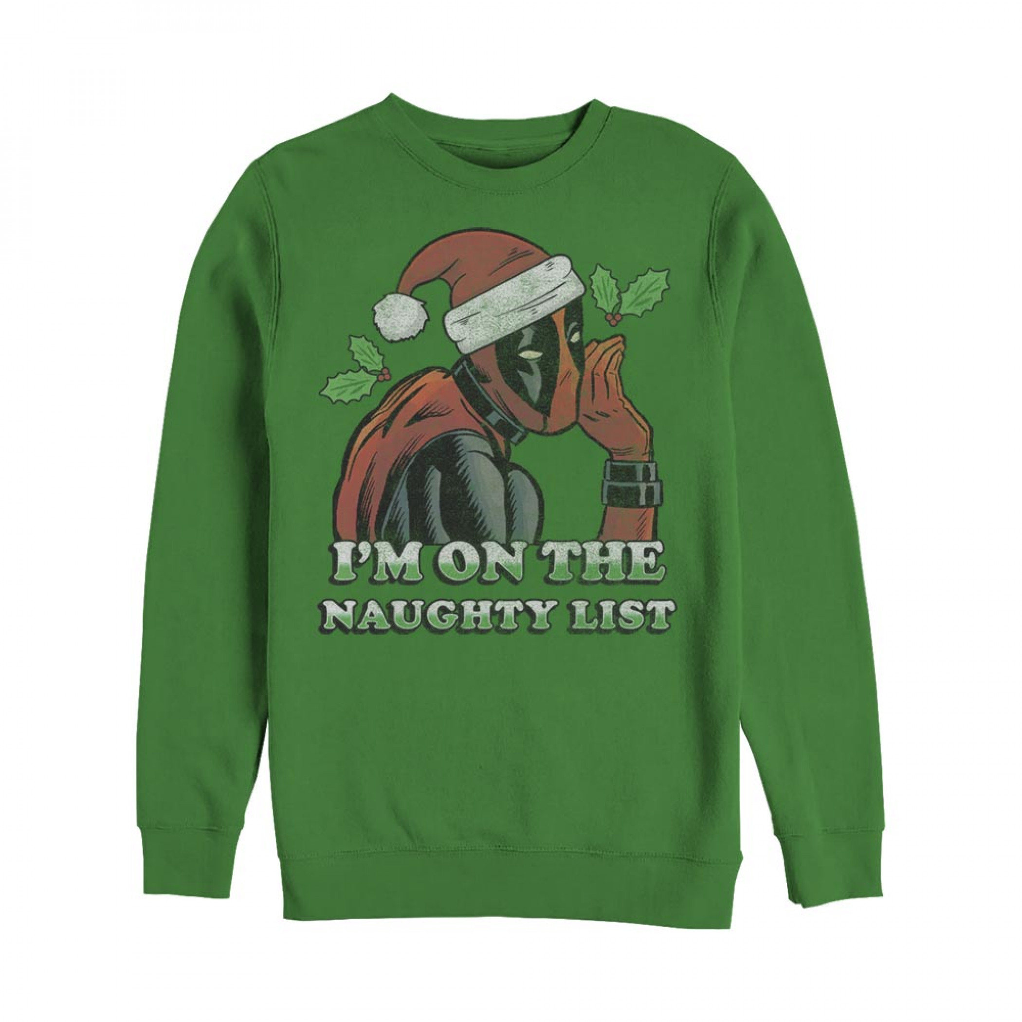 Deadpool On The Naughty List Ugly Christmas Sweatshirt