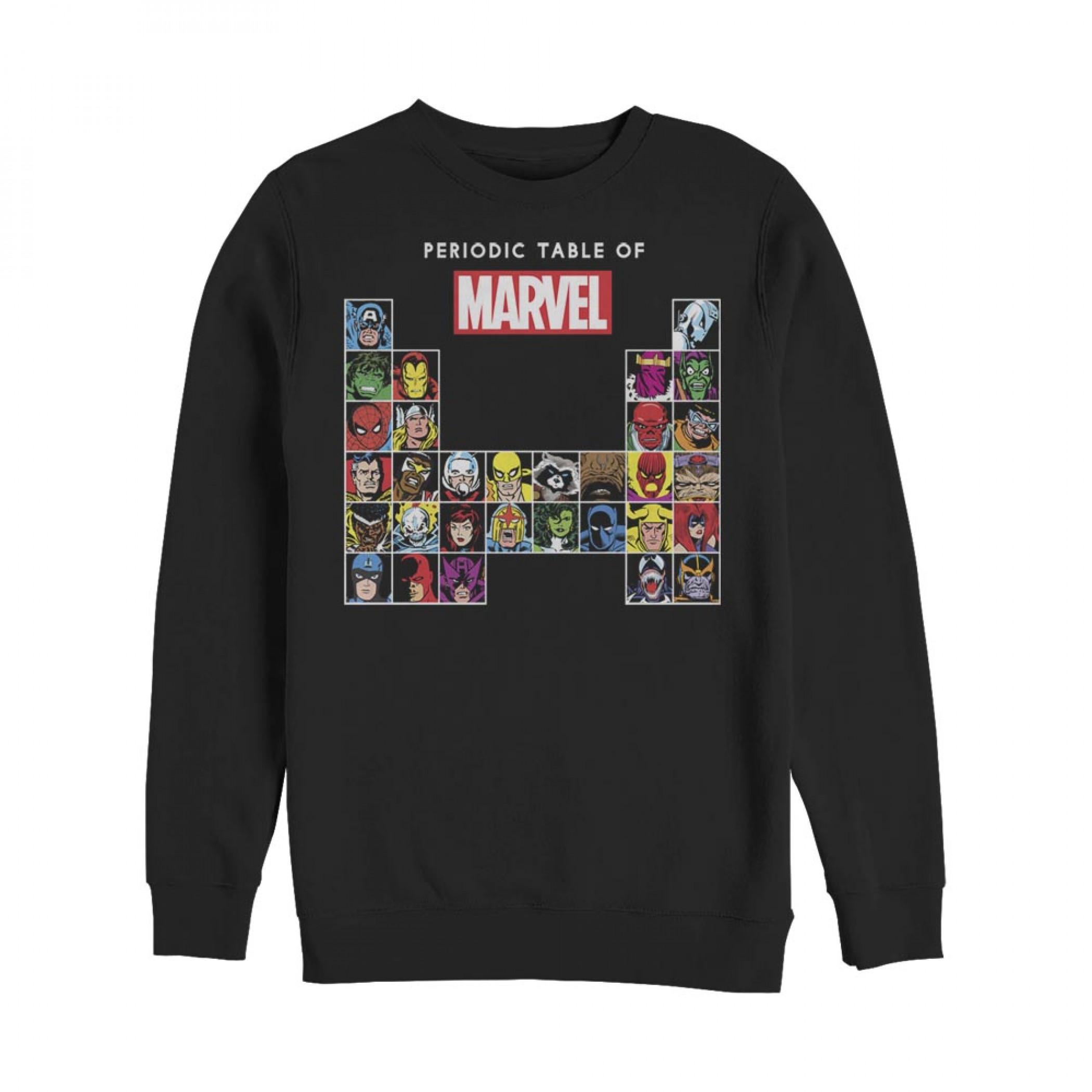 Marvel Periodic Table of Heroes Sweatshirt
