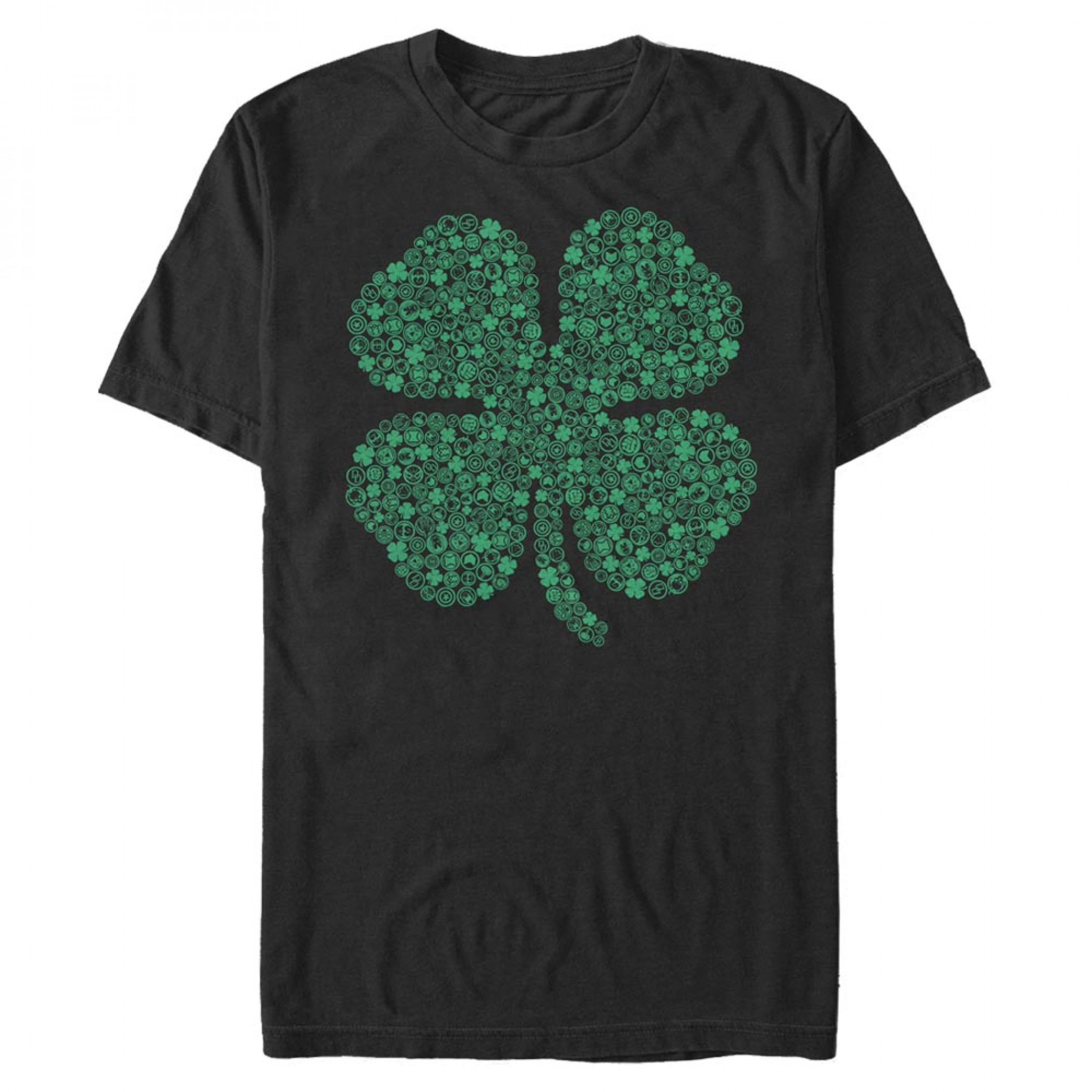 Avengers Logos Shamrock St. Patrick's Day T-Shirt