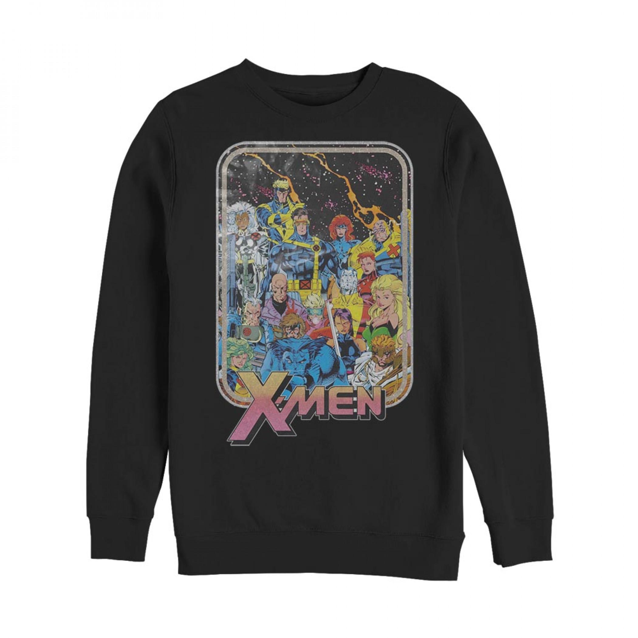 Marvel X-Men Retro Character Card Sweatshirt