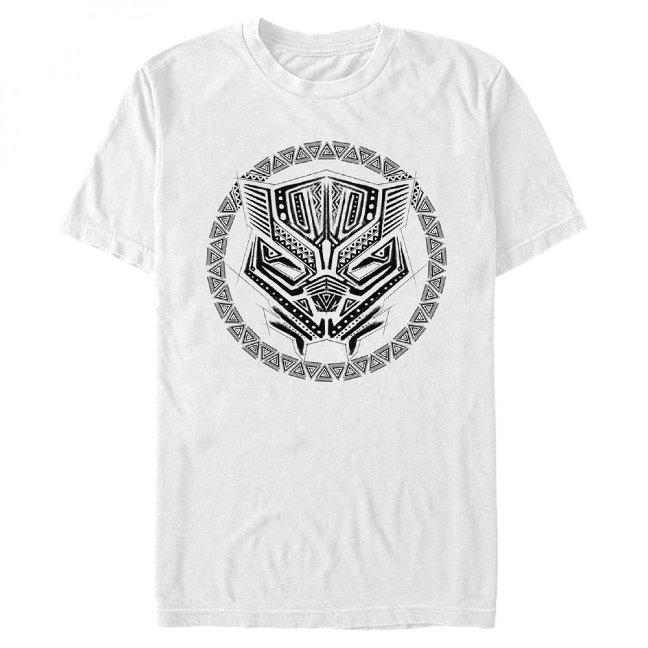 Black Panther Sketched Logo T-Shirt