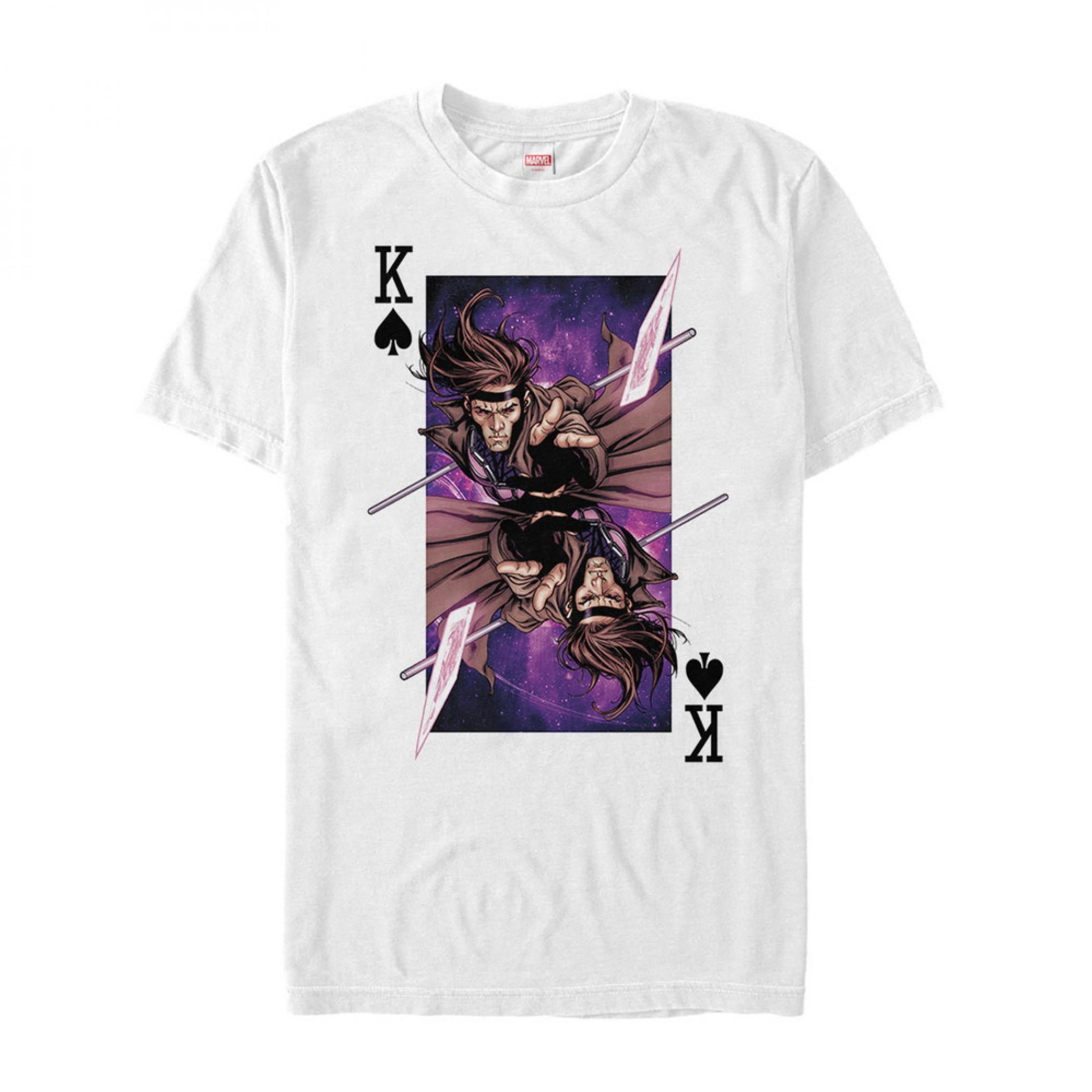 Marvel X-Men's Gambit Card Throw T-Shirt