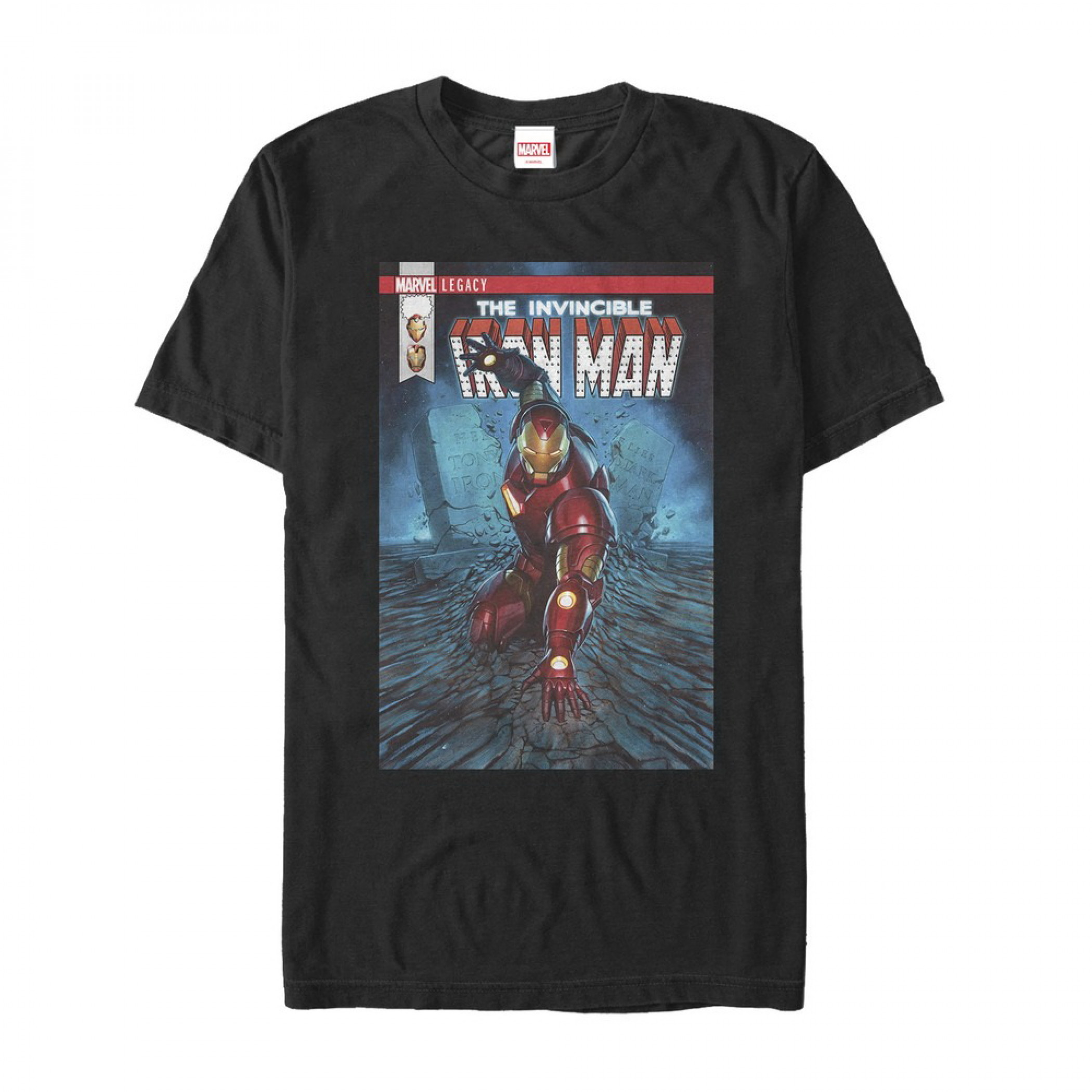 Iron Man Search for Tony Stark Comic Cover T-Shirt