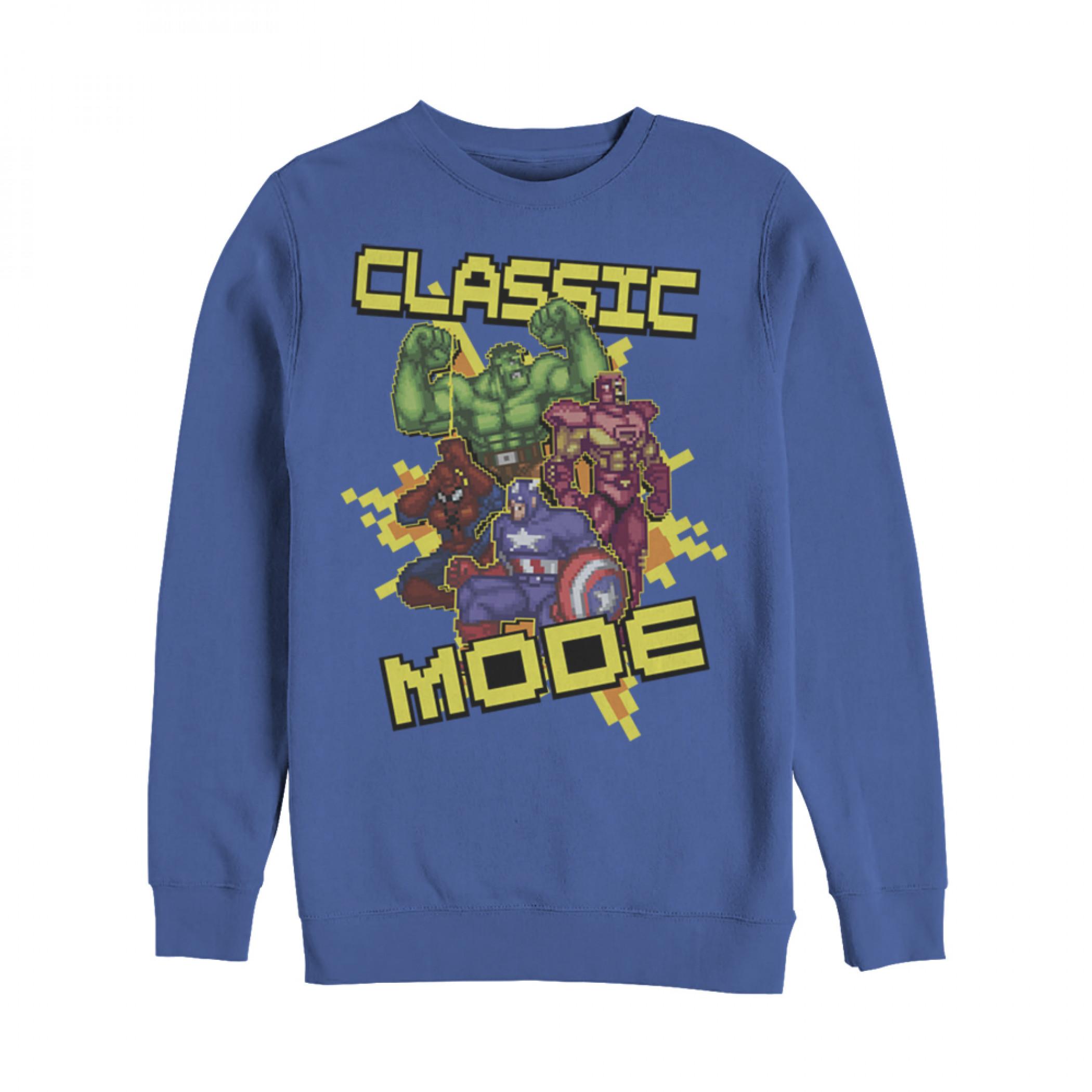 Marvel Pixelated Avengers Classic Mode Sweatshirt
