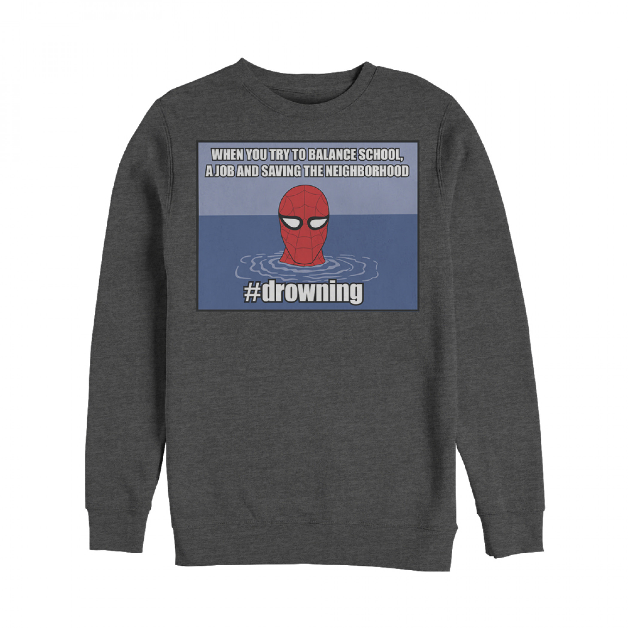 Marvel Spider-Man #drowning Sweatshirt