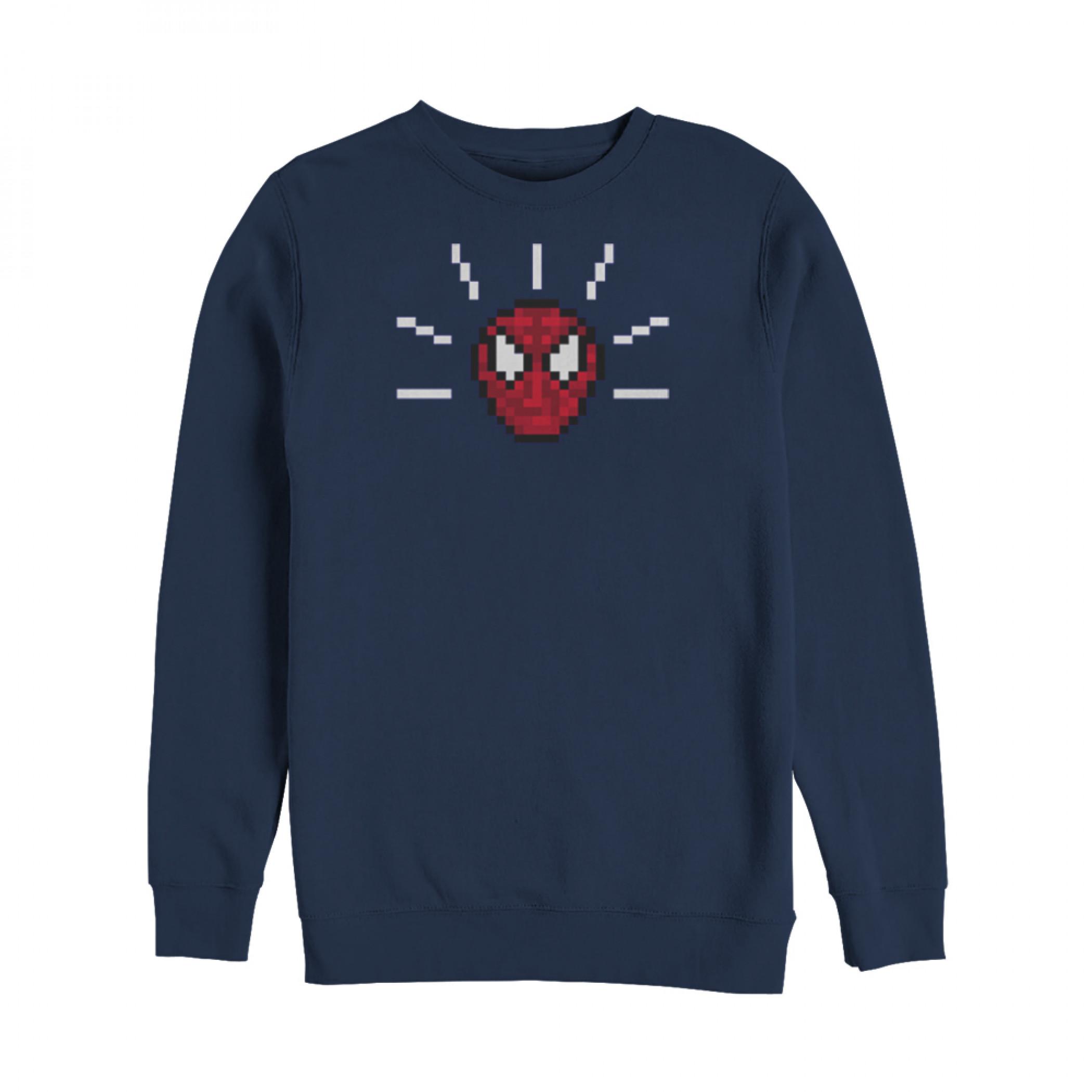 Marvel Pixelated Spider-Man Mask Sweatshirt