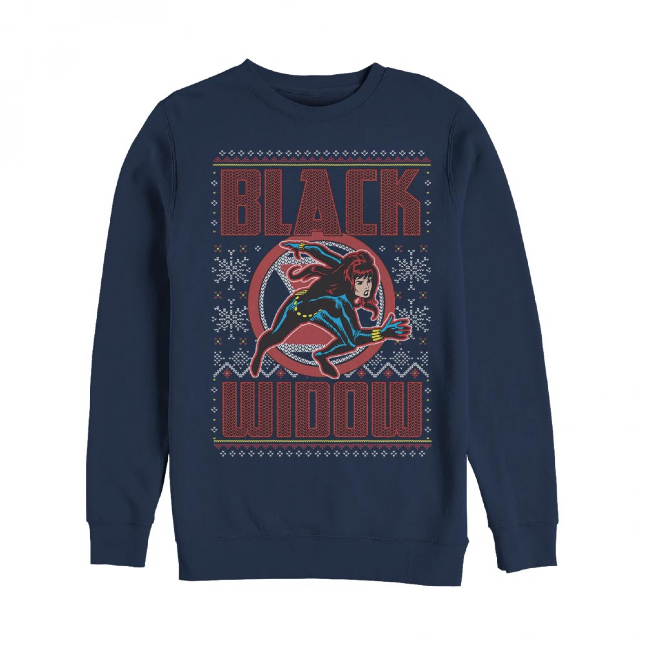 The Black Widow Ugly Christmas Sweatshirt