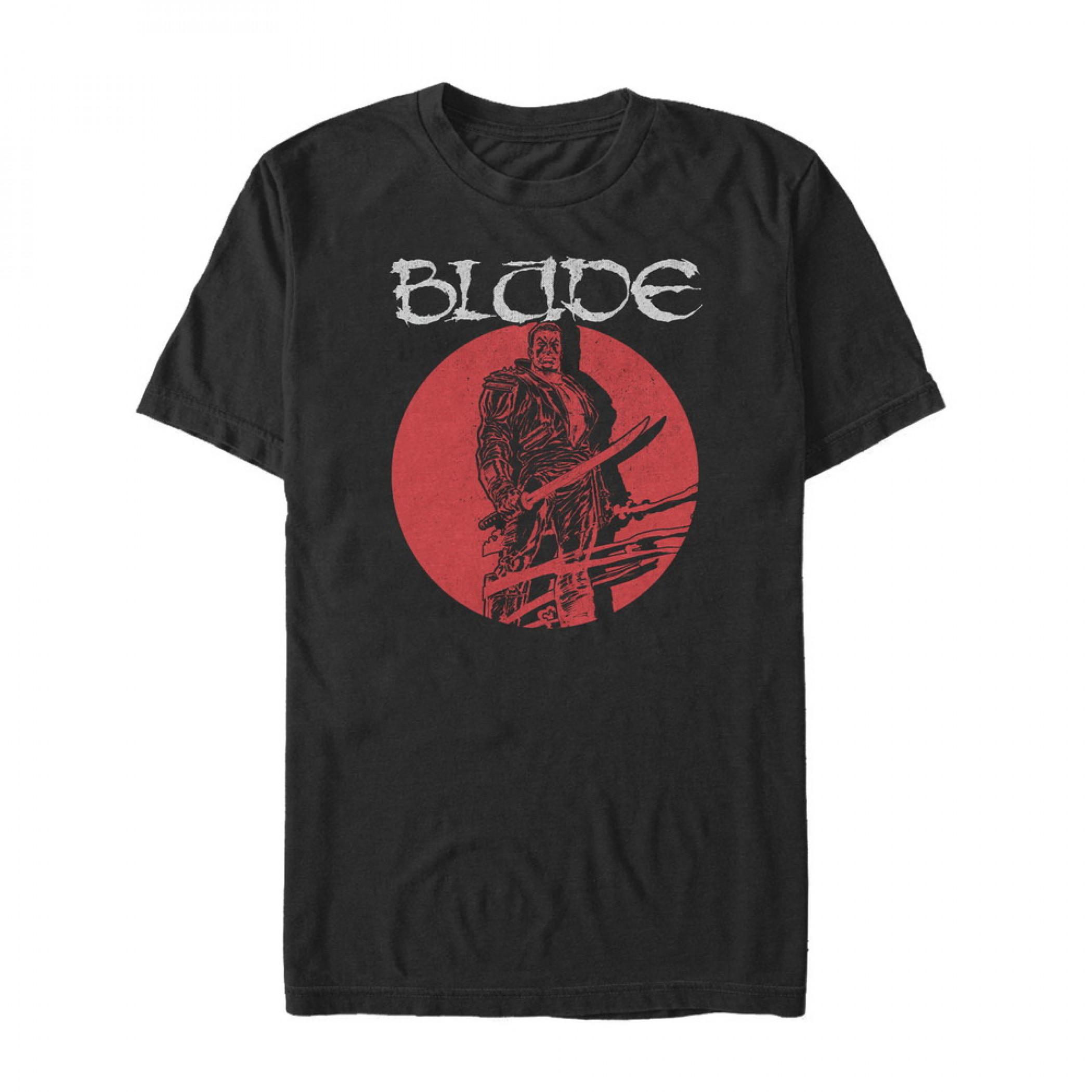 Marvel Blade Circle Portrait T-Shirt